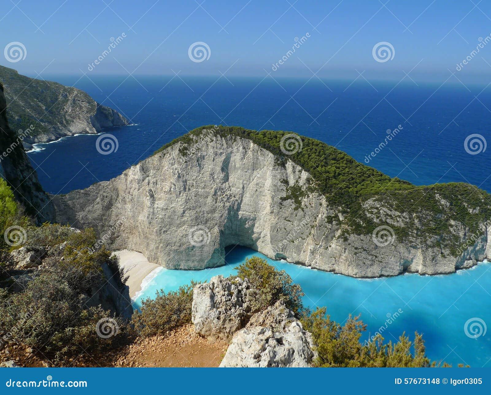 Raj zatoka Zakynthos wyspa