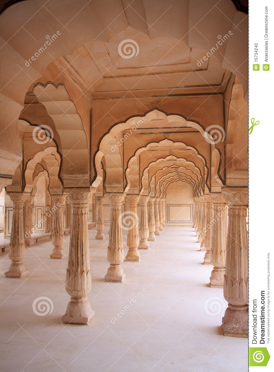 Rajasthan Style Indian Architecture Stock Photo Image 15734240