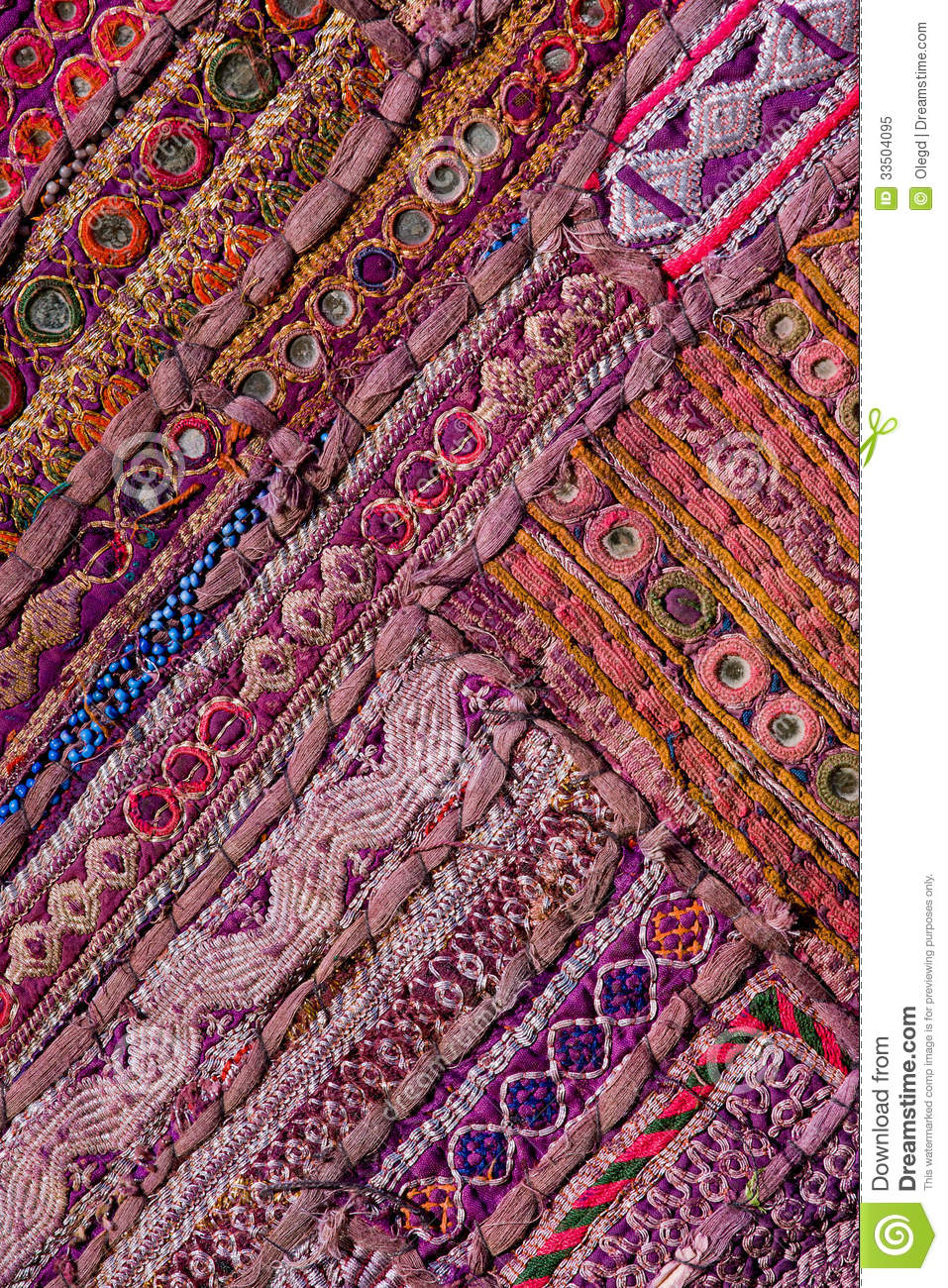 Rajasthani Indian Patchwork Wall Cloth Royalty Free Stock