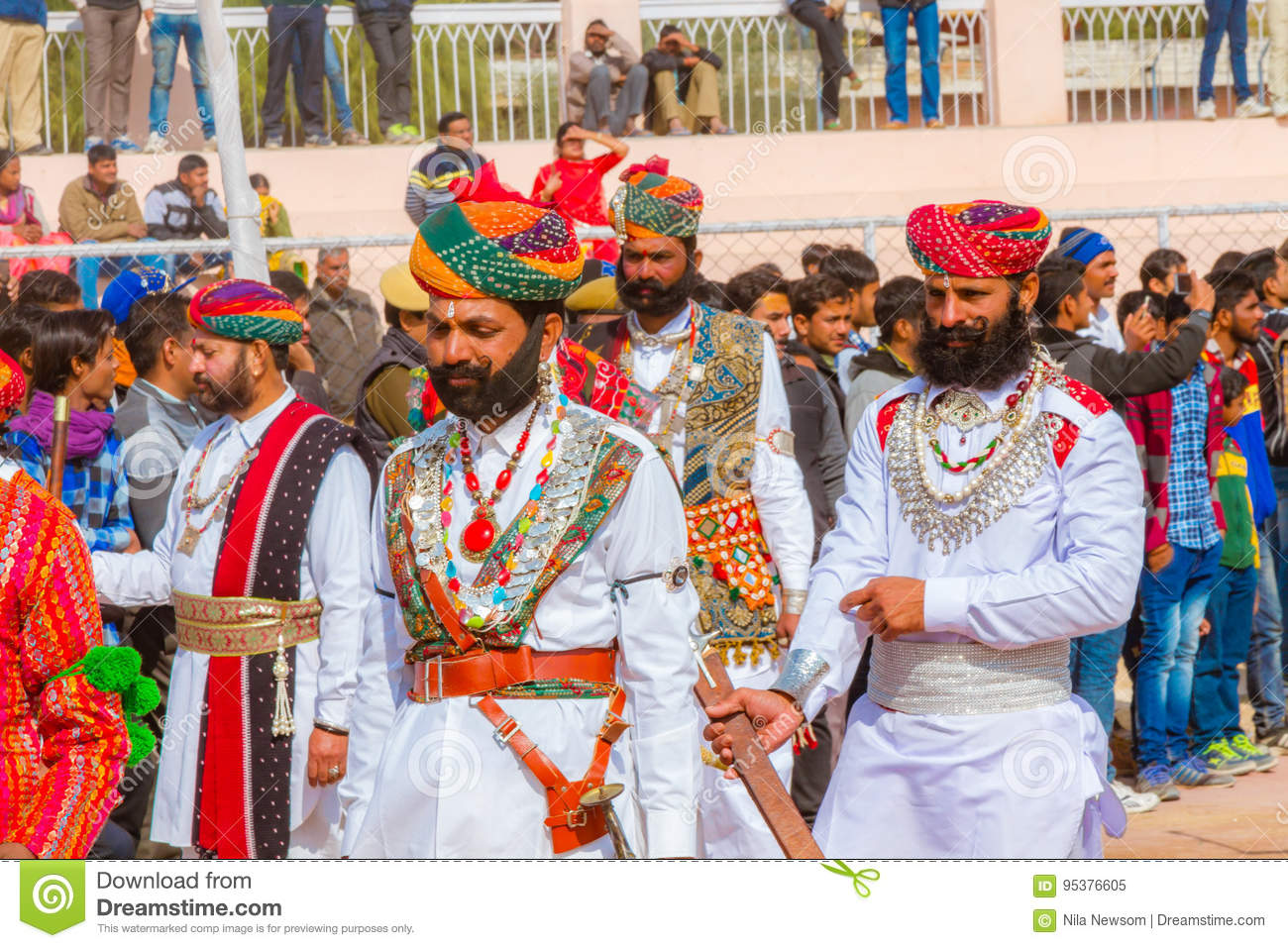 Rajasthani Men In Traditional Dress Editorial Image ...