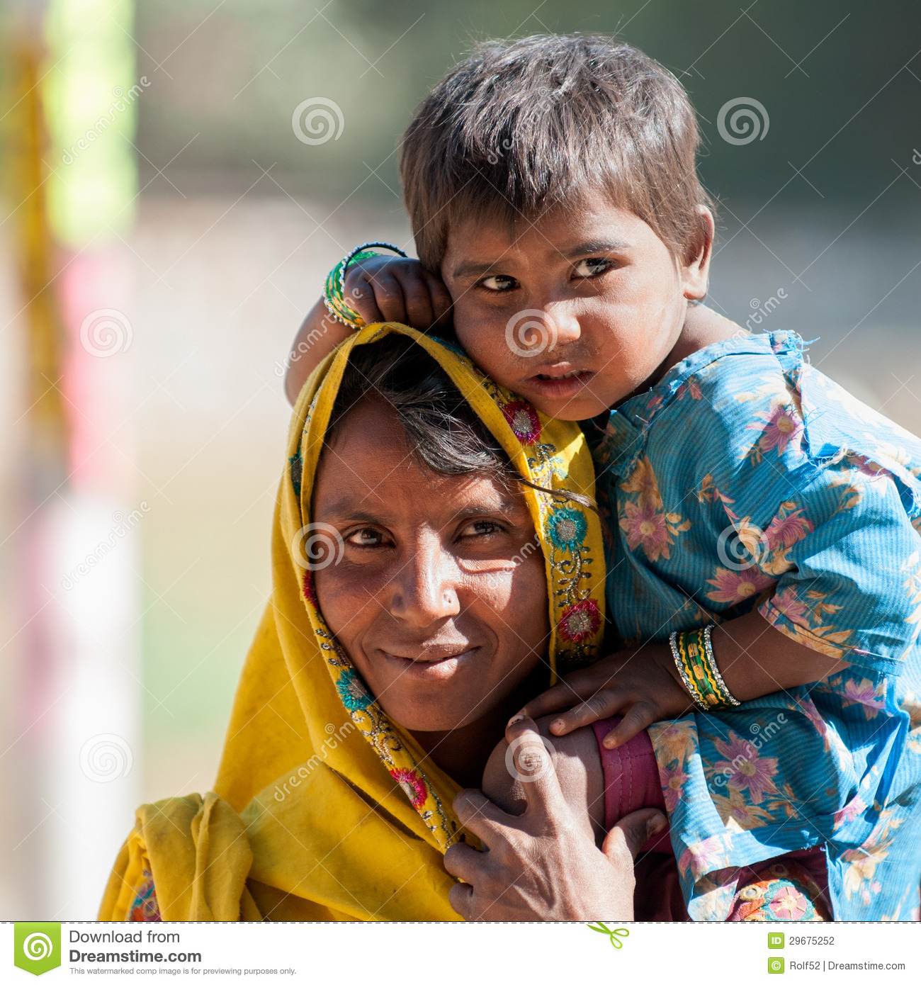 Rajasthani Mother With Child Editorial Photography - Image ...