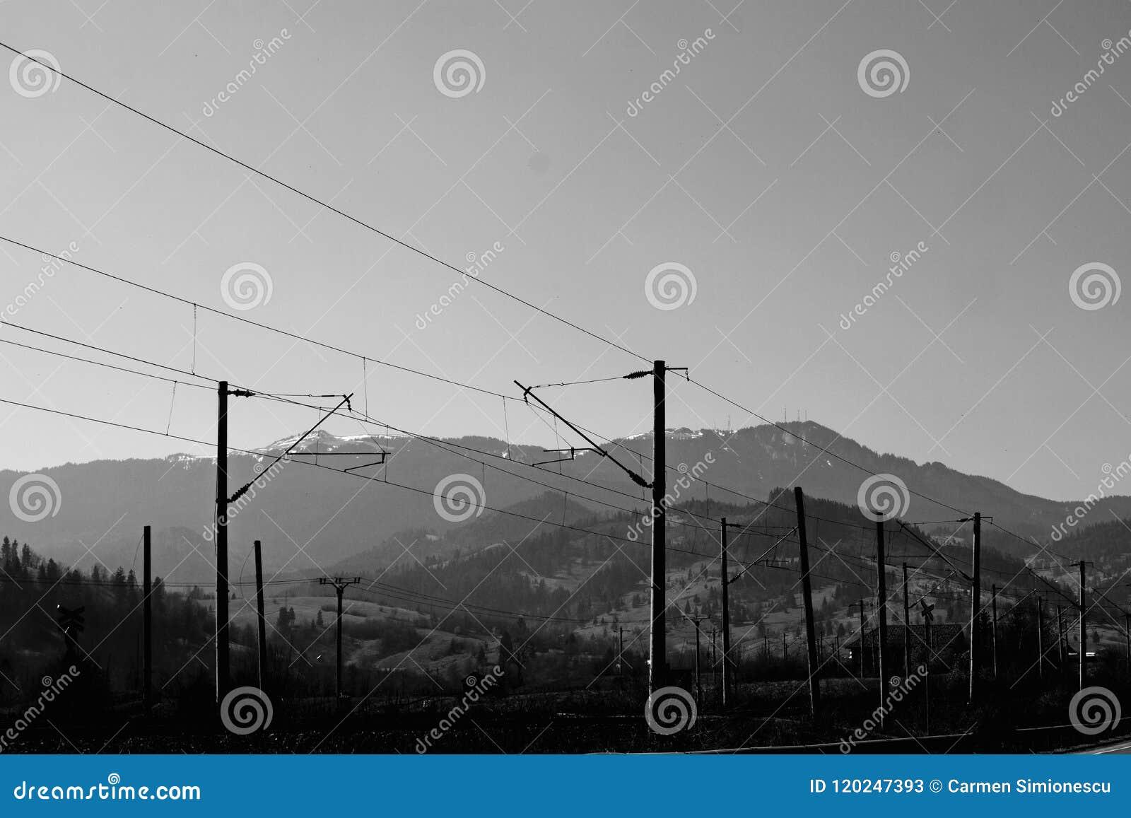 Rak linje i bergen