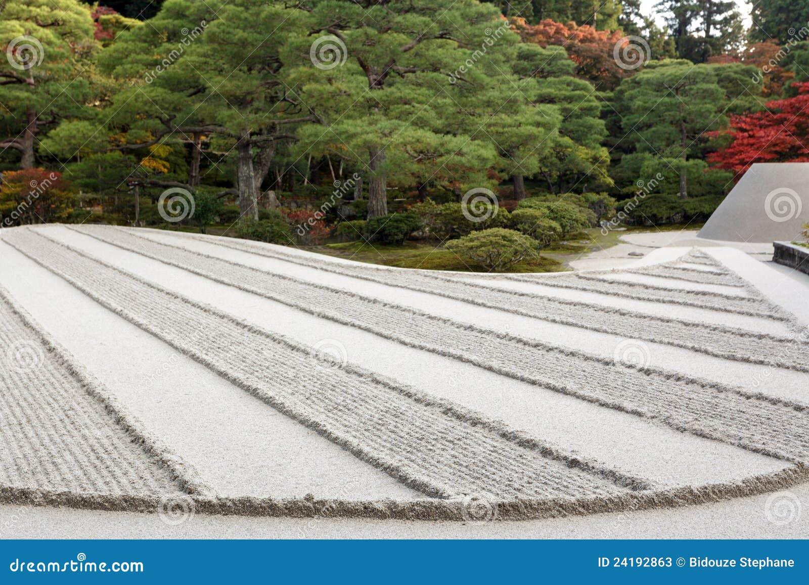 Raked Sand Zen Garden Stock Photos Image 24192863