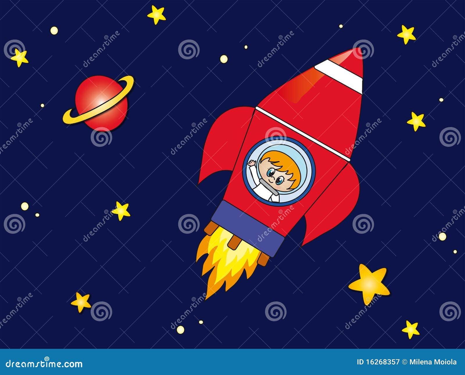 Raket in de ruimte royalty vrije stock fotografie afbeelding 16268357 - Lay outs ruimte van de jongen ...