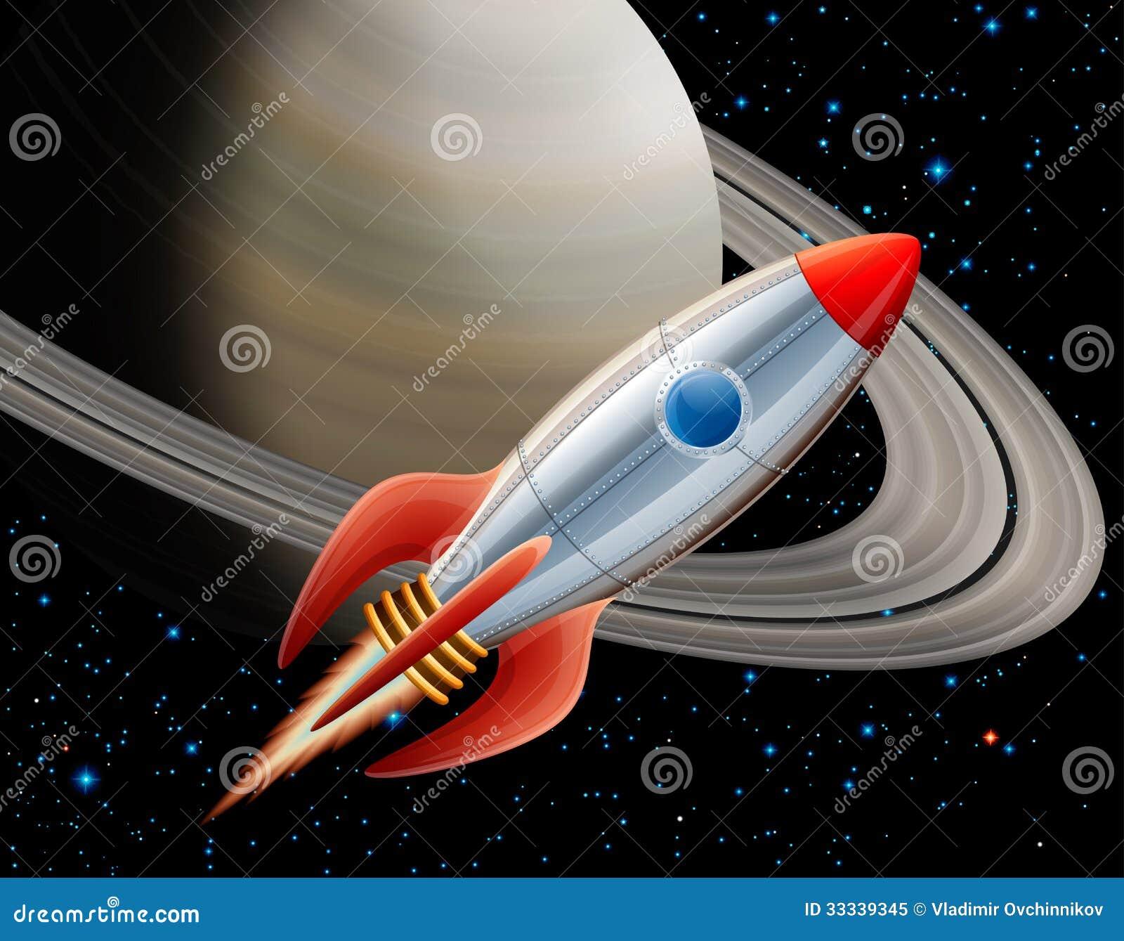 Raket in ruimte