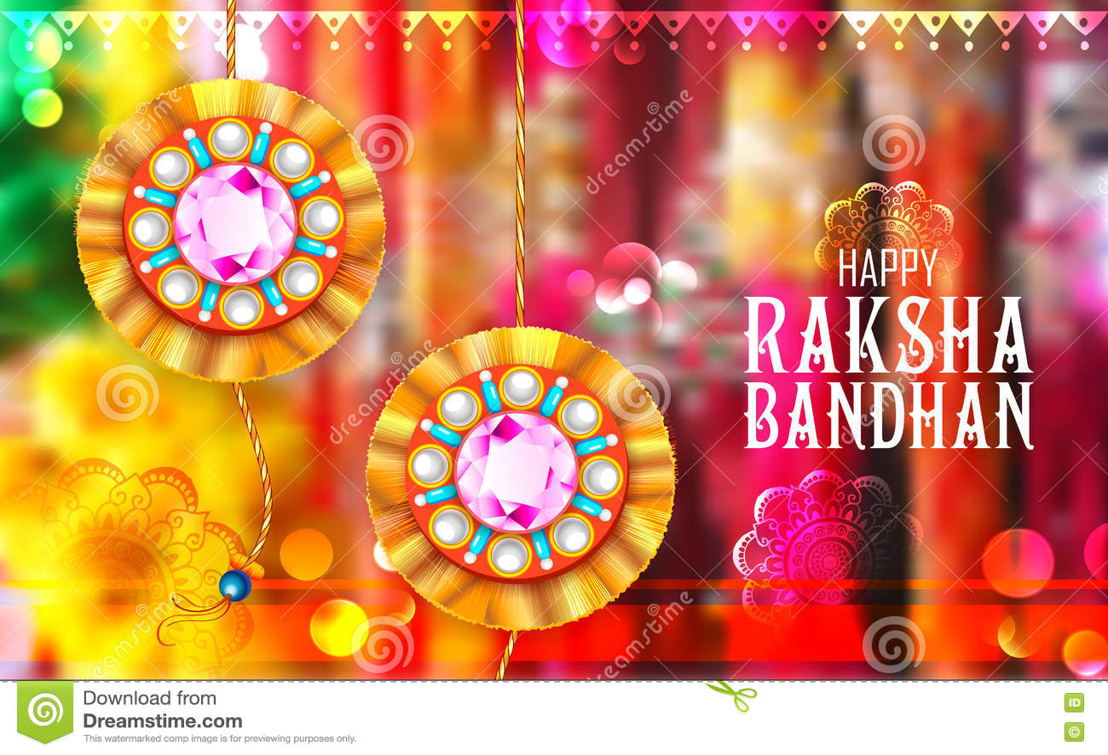 Rakhi decorativo para o fundo de Raksha Bandhan