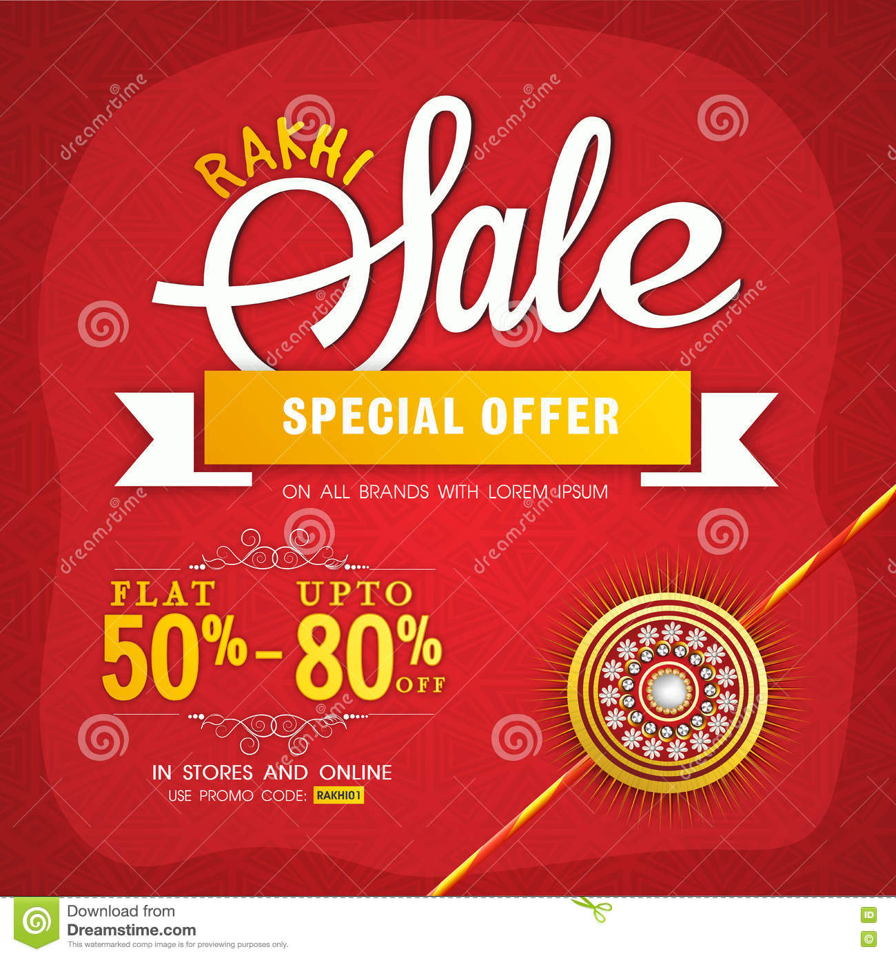 rakhi poster banner or flyer design stock illustration rakhi poster banner or flyer design