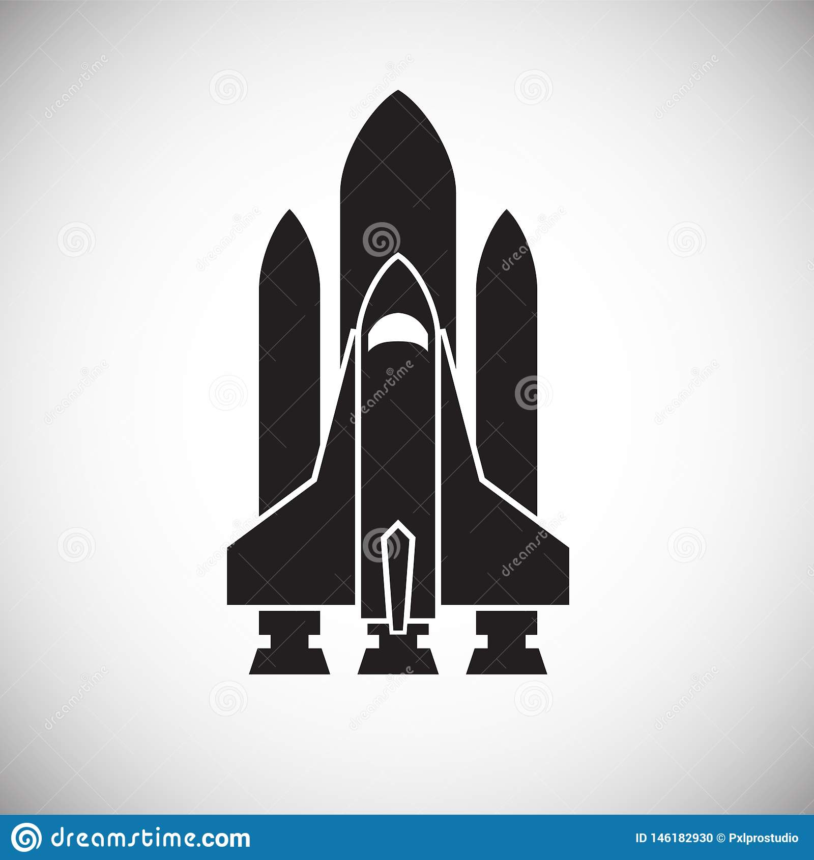 Rakietowa ikona na tle dla grafiki i sieci projekta Prosty wektoru znak Internetowy poj?cie symbol dla strona internetowa guzika