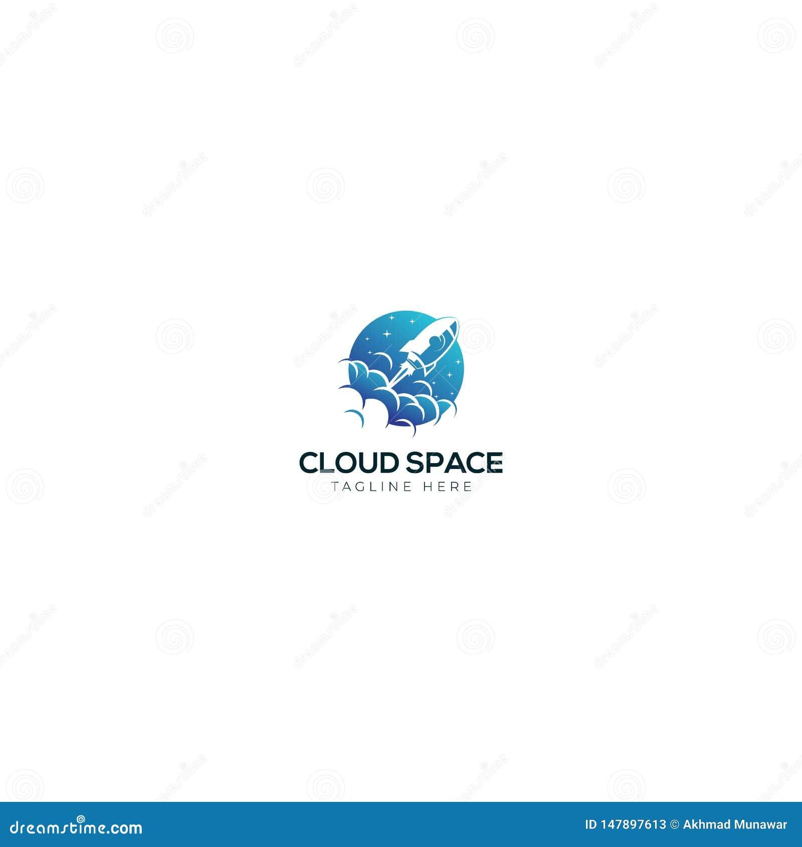 Rakiety I chmury logo Astronautyczny projekt