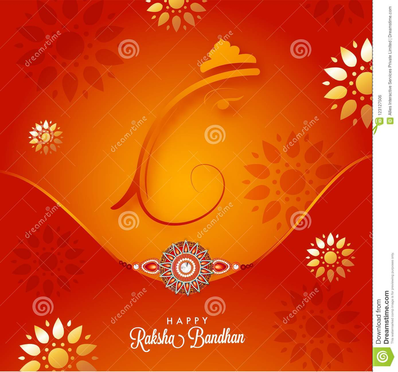 Raksha bandhan greeting card design stock illustration download raksha bandhan greeting card design stock illustration illustration of brother occasion m4hsunfo