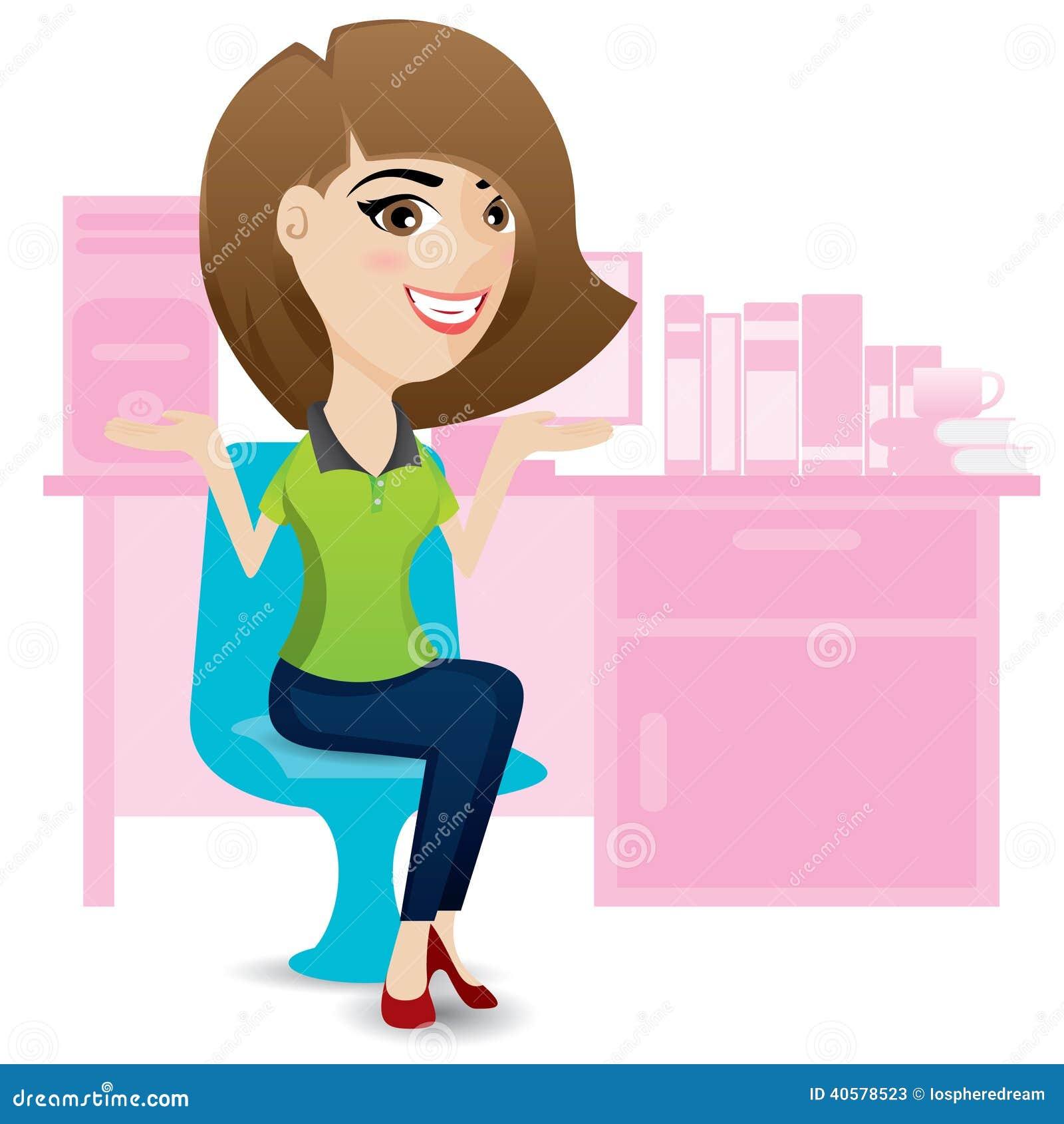 Ralax дамы офиса на стуле