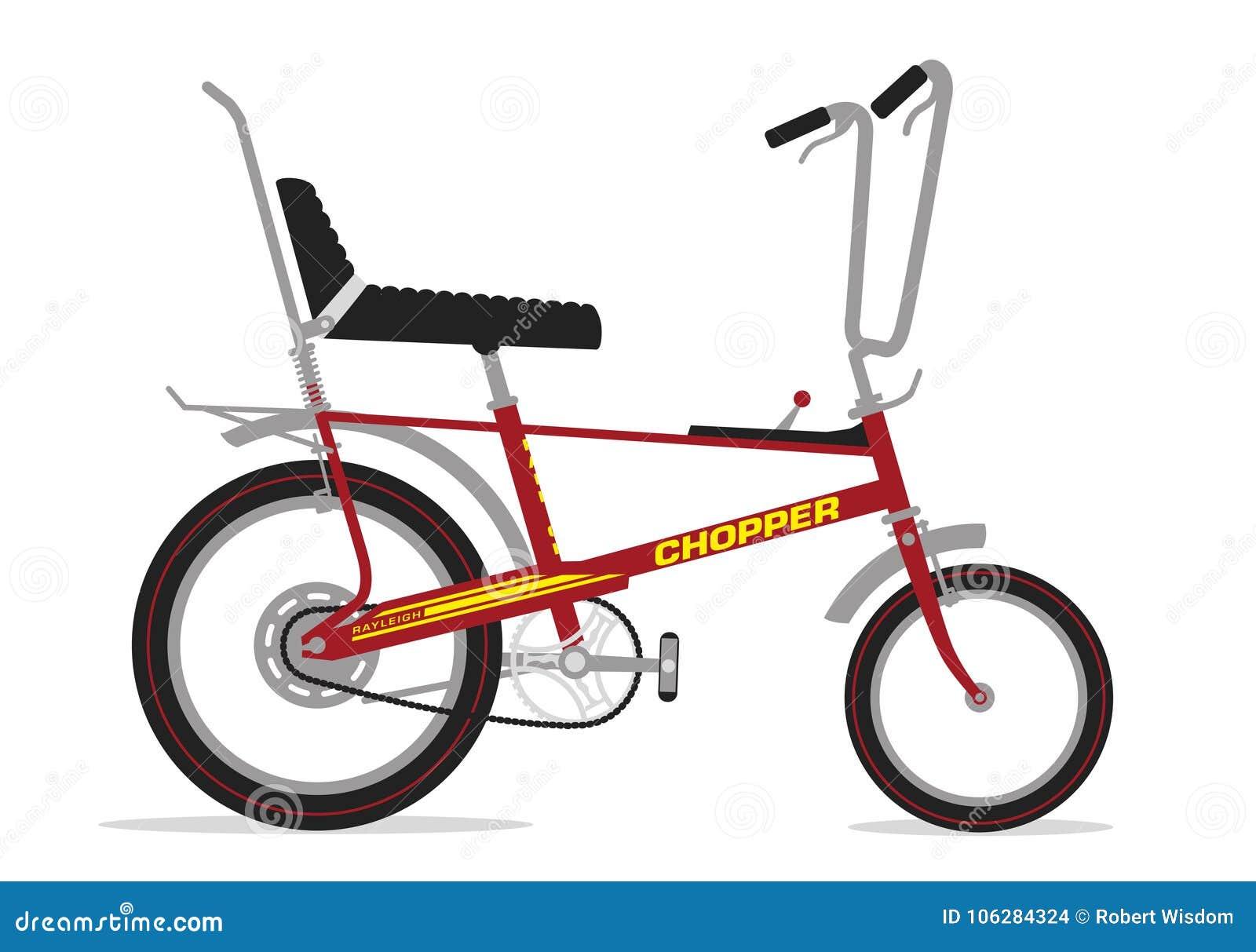 Raleigh Chopper Bike stock illustration  Illustration of 1974