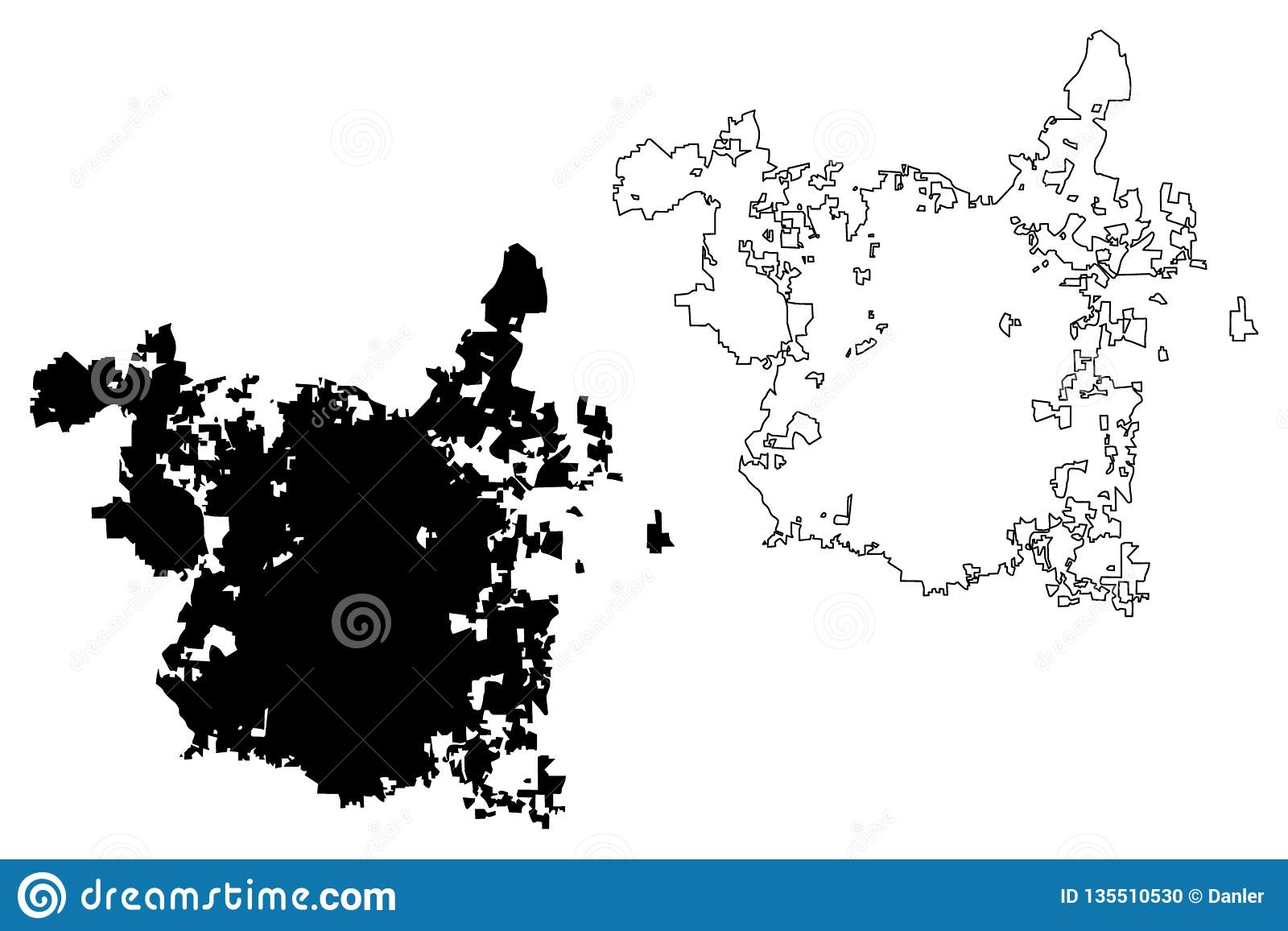 Raleigh City map vector stock vector. Illustration of graphic ...