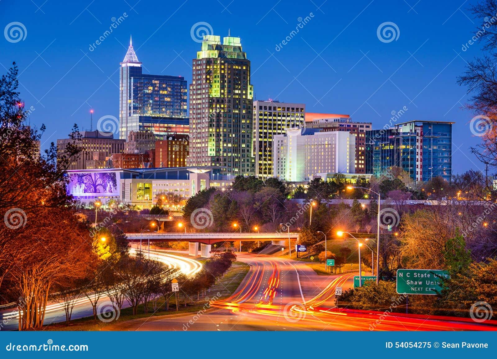 Raleigh North Carolina Skyline