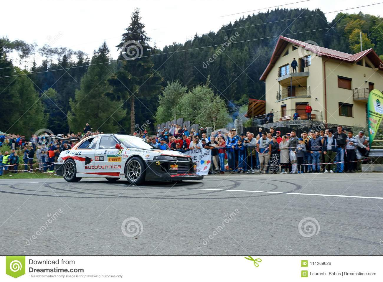 Mitsubishi Lancer Evo V Tuning Rally Car Editorial Photo - Image of ...