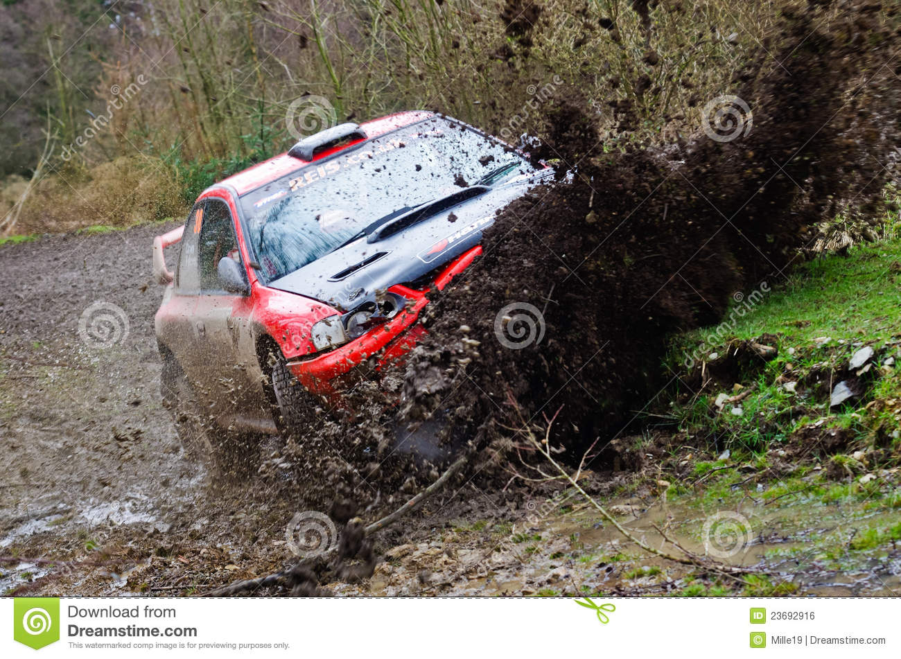 Rally Car Crash editorial photo. Image of cumbria, davies - 23692916