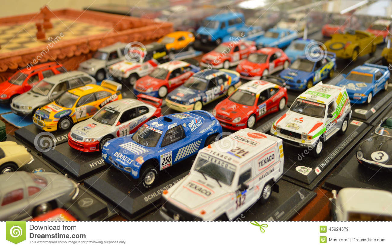 Rally car models editorial stock image. Image of childhood - 45924679