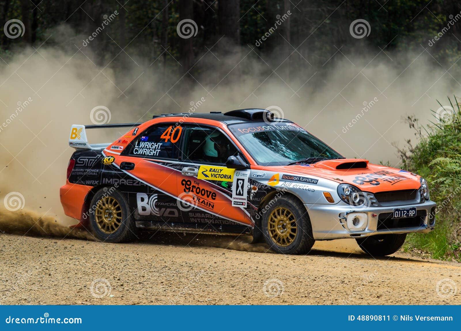 Rally car at Rally Victoria 2014