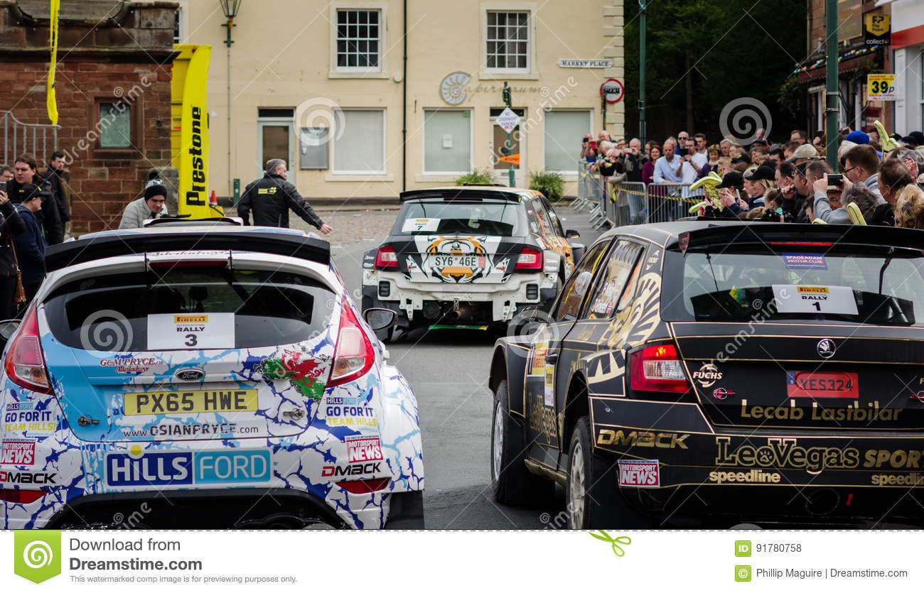 Rally Cars In Brampton, Cumbria Editorial Stock Photo - Image of ...