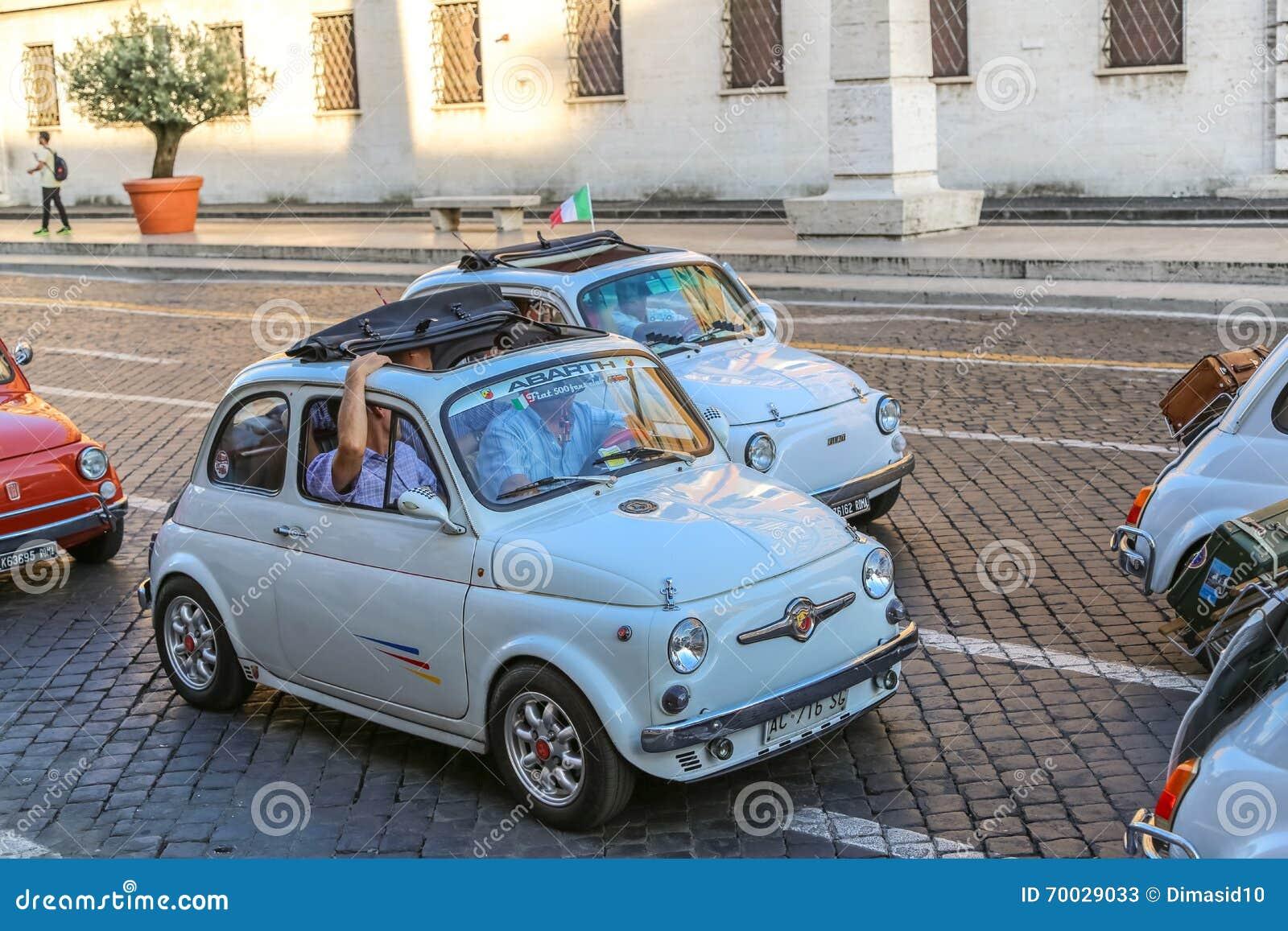 Rally Of Vintage Economy Car Fiat 500 Editorial Stock