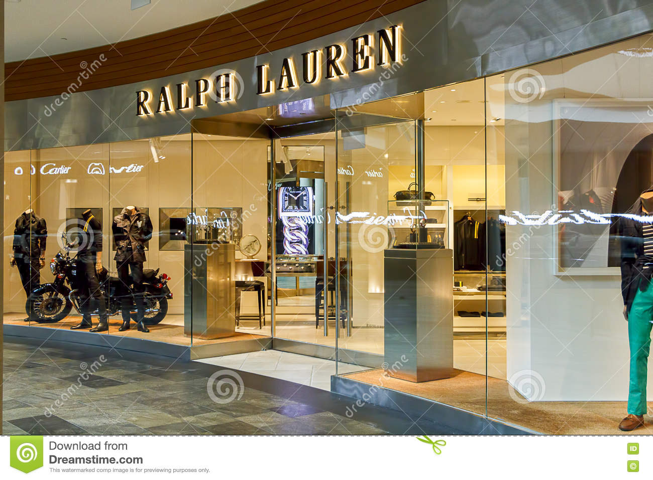 new styles 50e50 ab4ce Ralph Lauren Designer Boutique Immagine Editoriale ...