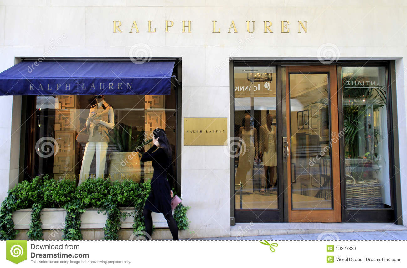 a4f17fa0ba29 Ralph Lauren Luxury Boutique Editorial Stock Image - Image of city ...
