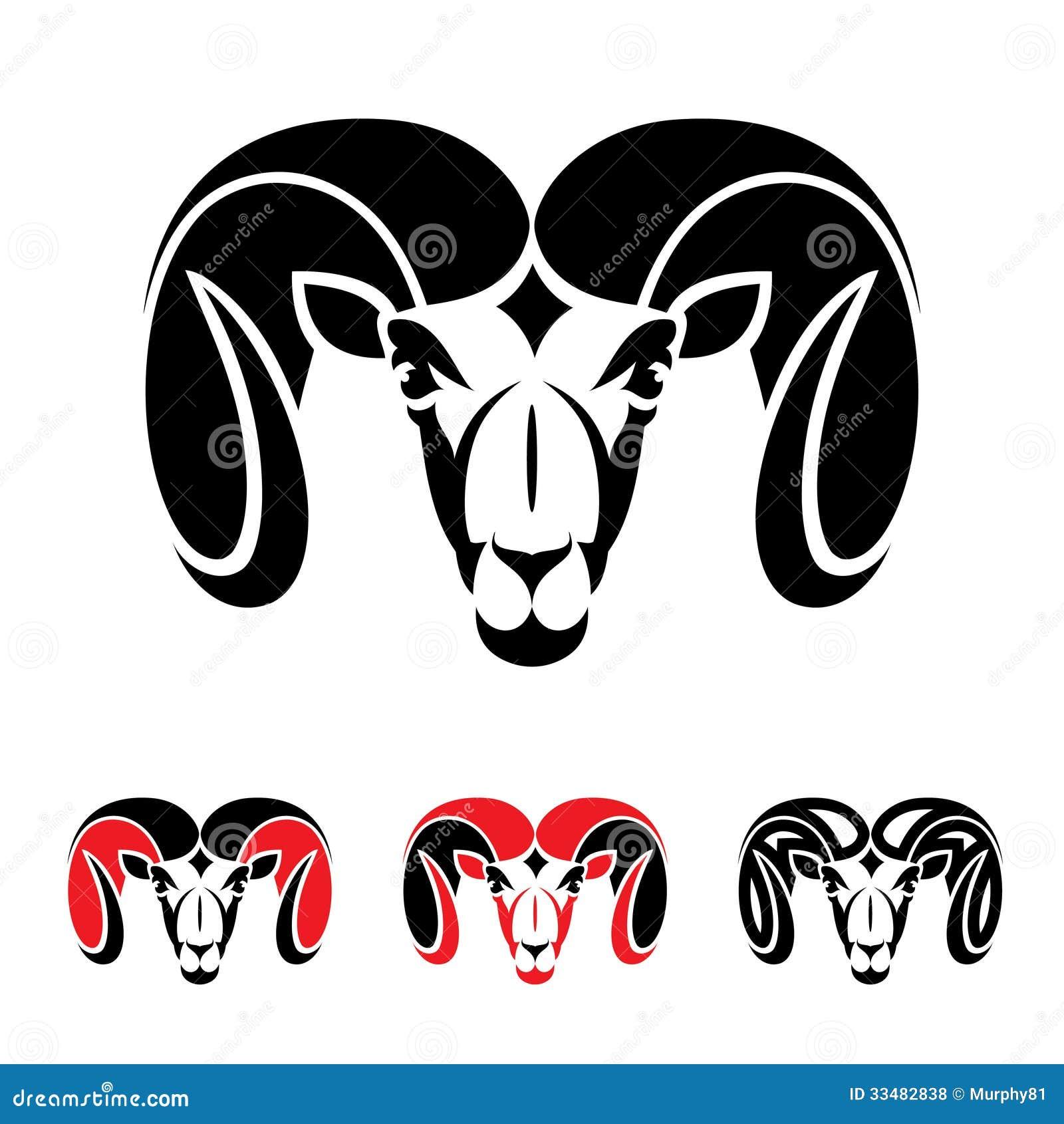 ram animal stock vector illustration of power sign 33482838