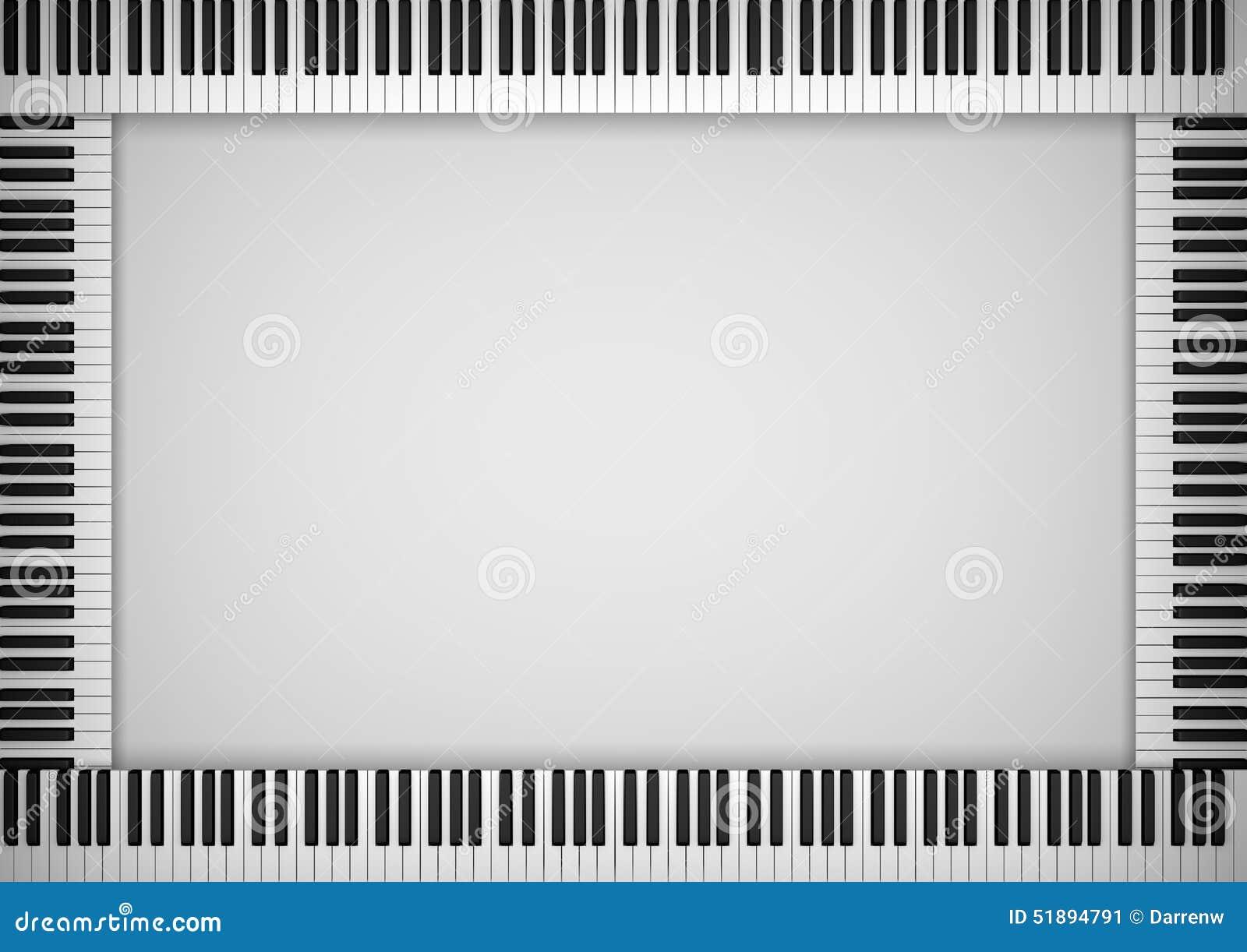 Ram för pianotangentbord