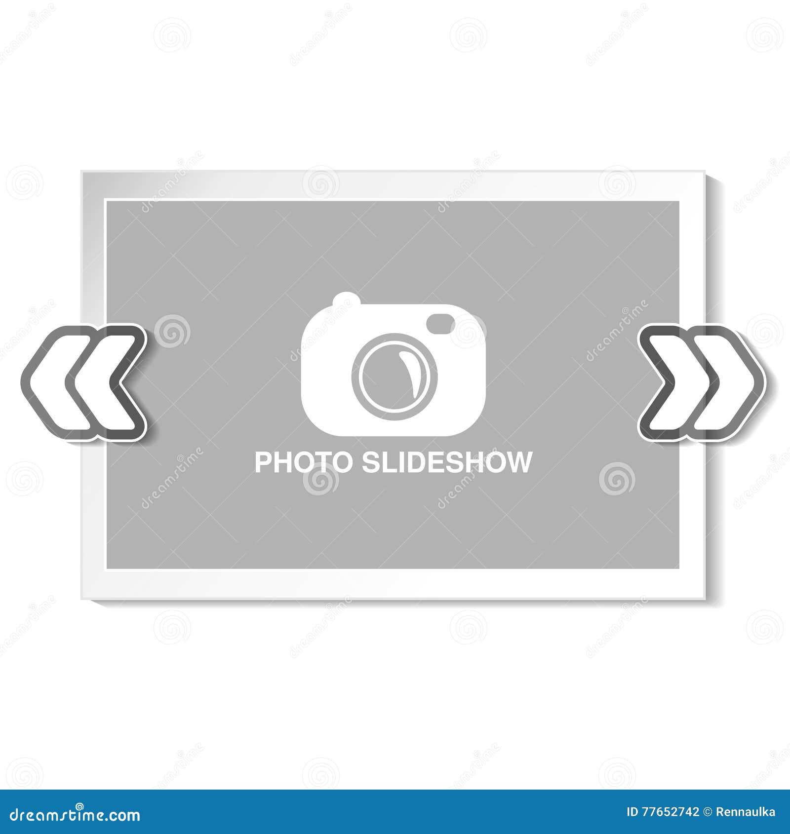 Ram för websiteslideshow, presentation eller serie av projekterade bilder, fotografiska glidbanor eller online-orientering för fo