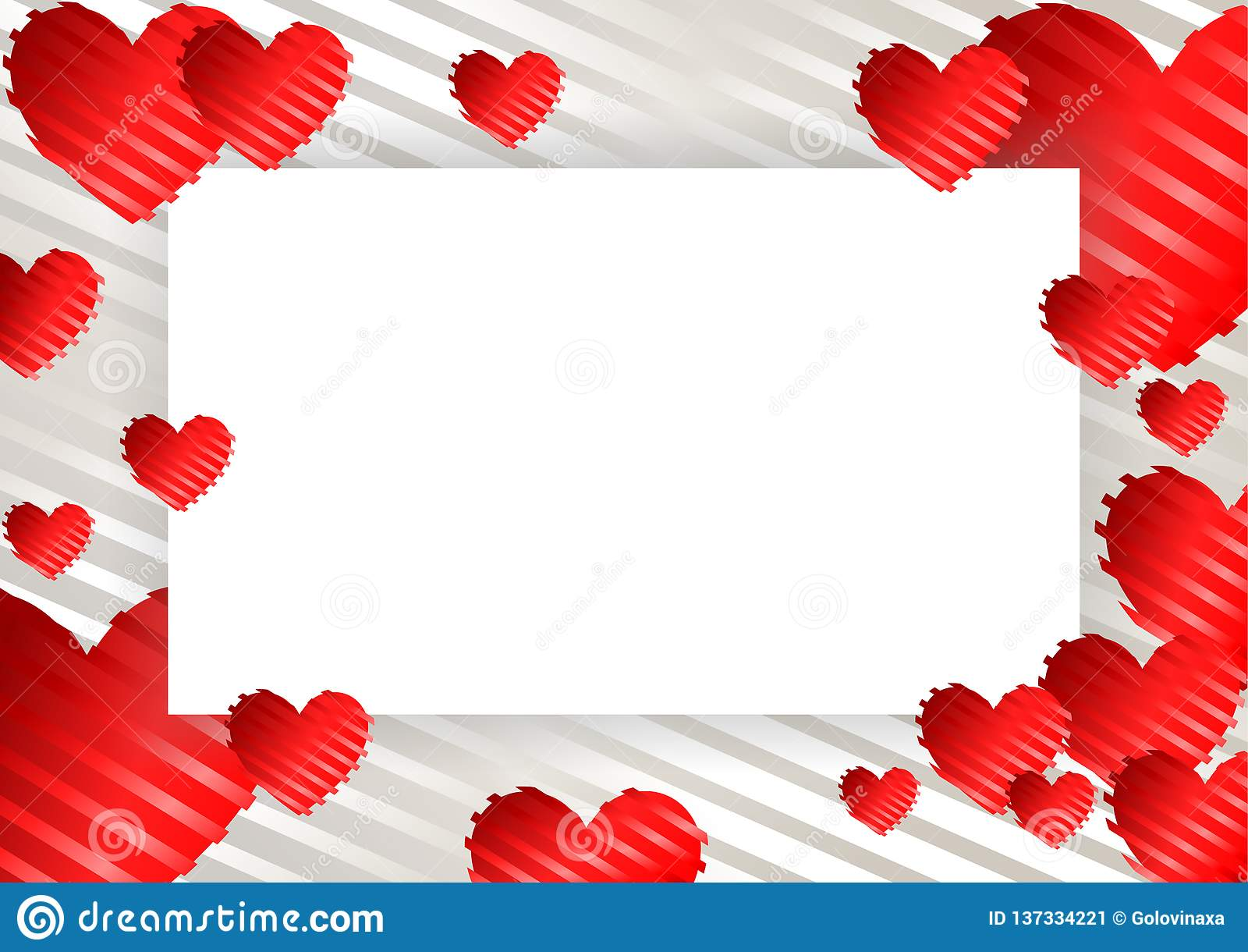 Ram gräns med hjärtor