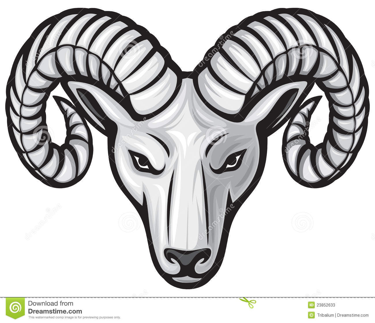 Ram head stock vector illustration of isolated domestic for Draw logo free