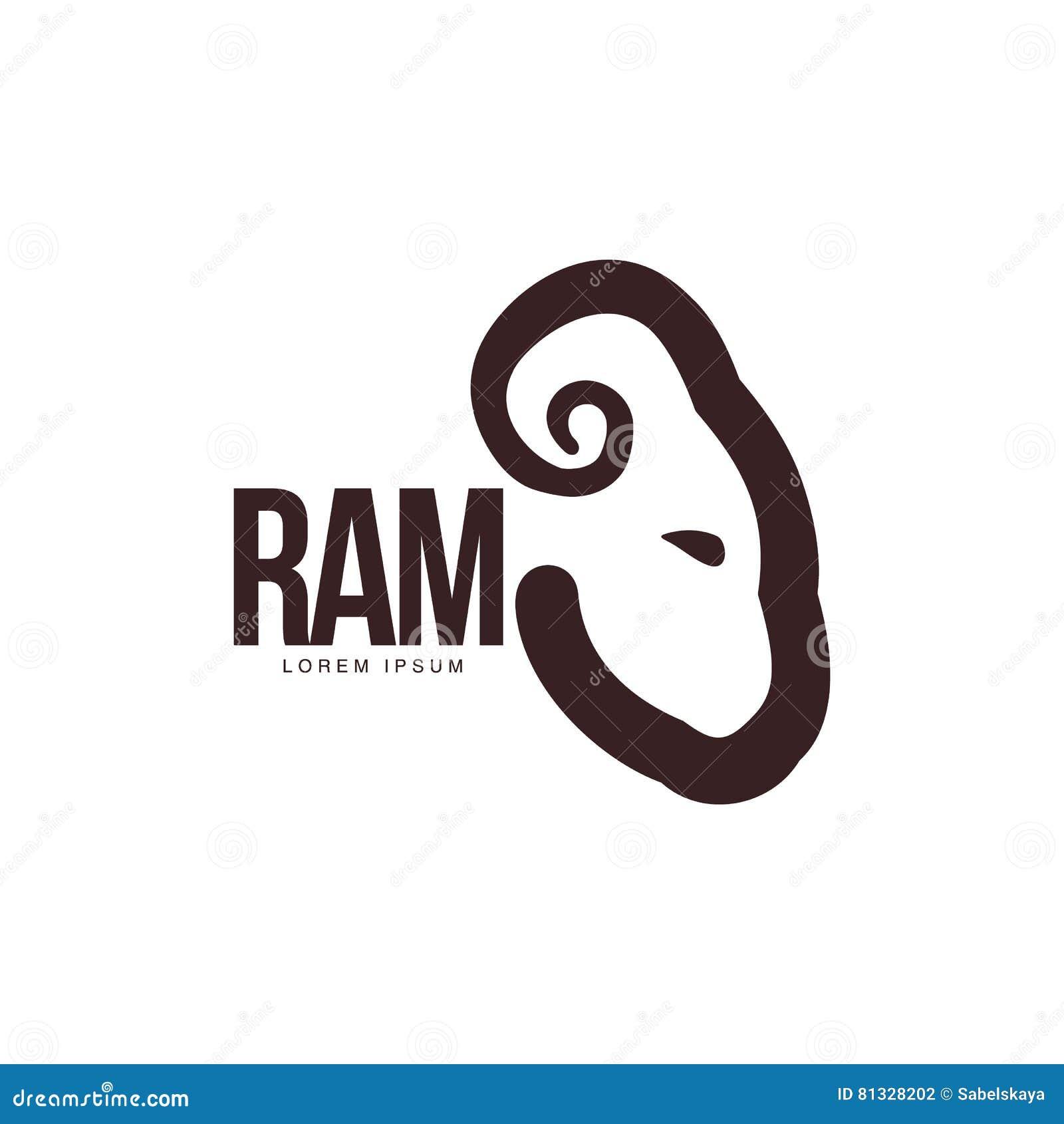 Ram, Oveja, Plantilla Gráfica Del Logotipo Del Perfil Principal Del ...