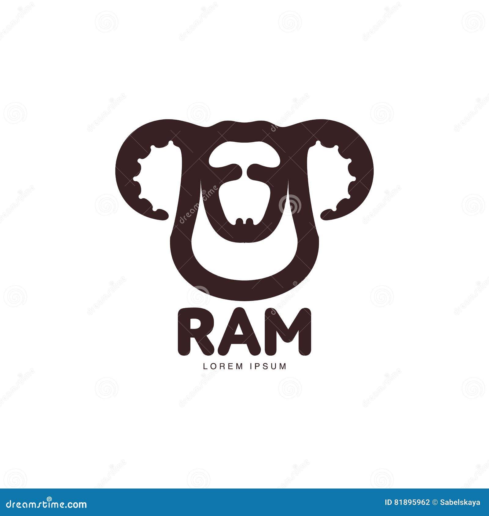 Ram, Oveja, Plantilla Gráfica Principal Del Logotipo Del Cordero ...