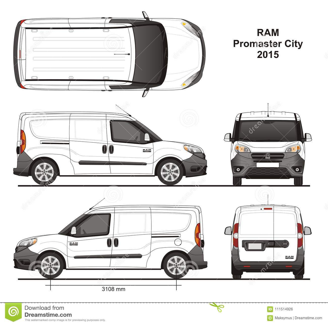 2018 Ram Promaster Cargo Van Camshaft: Ram Promaster City Cargo Delivery Van 2015 Editorial Photo