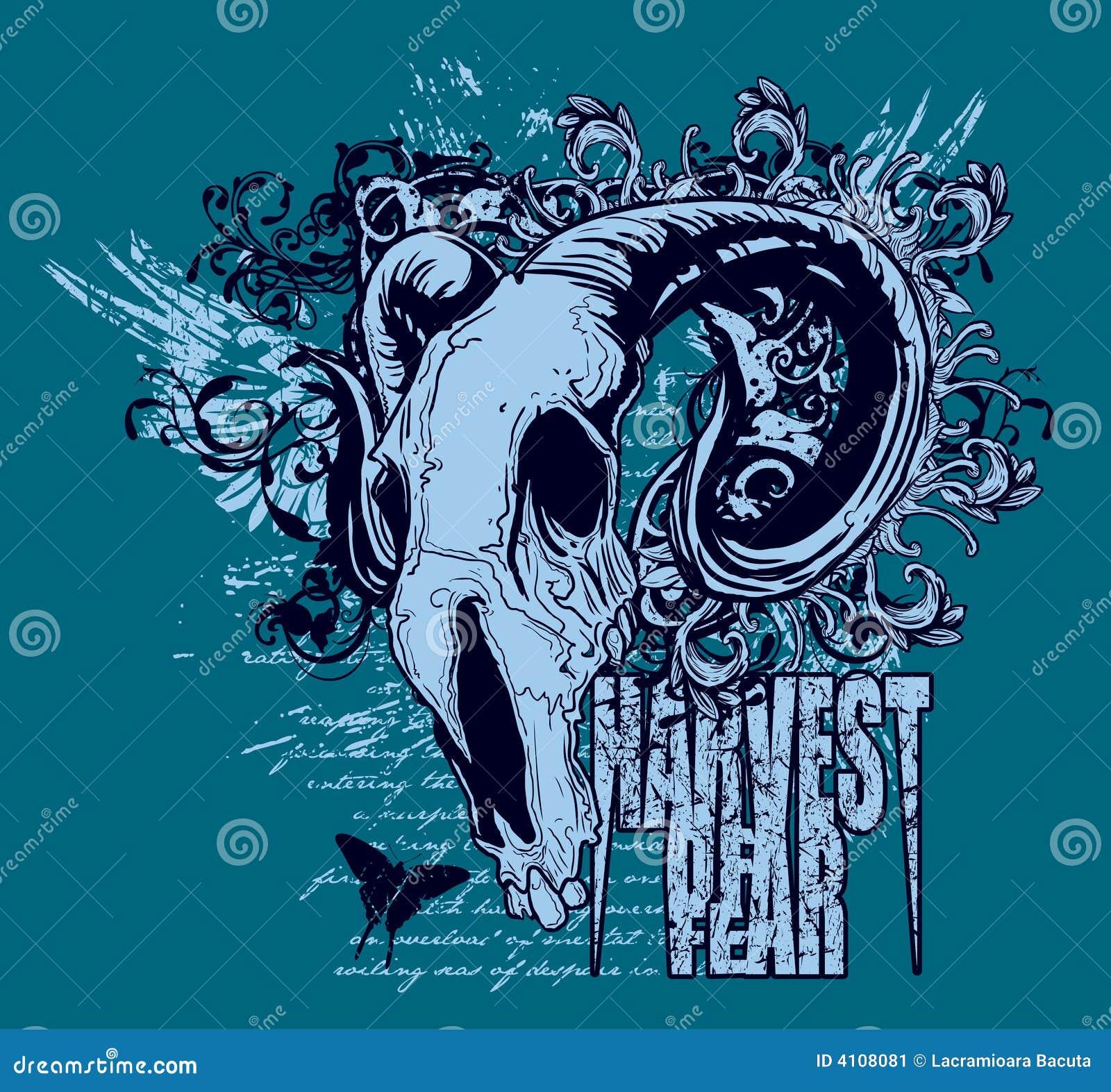 Ram skull graphic