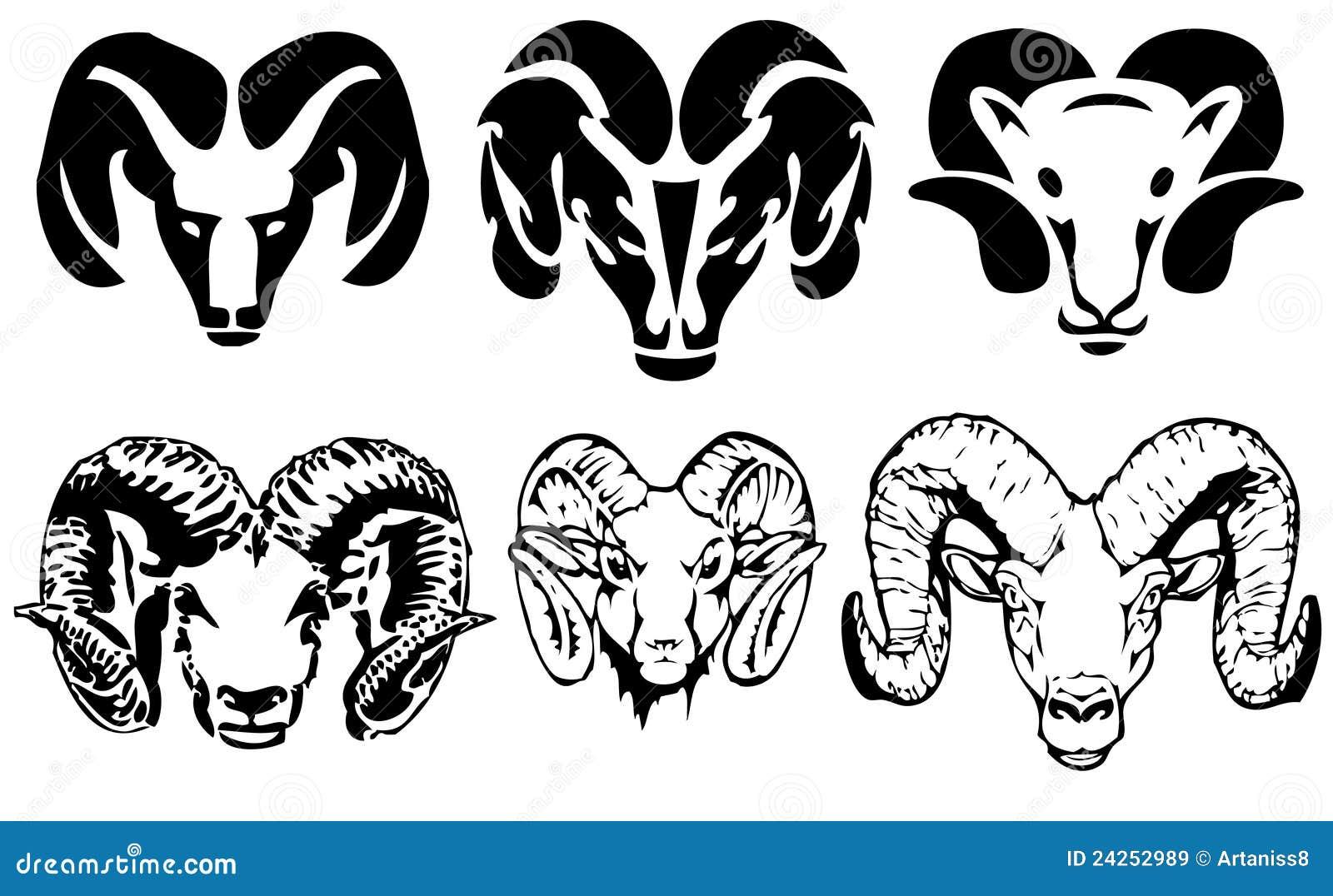 Ram stencil - Vector set