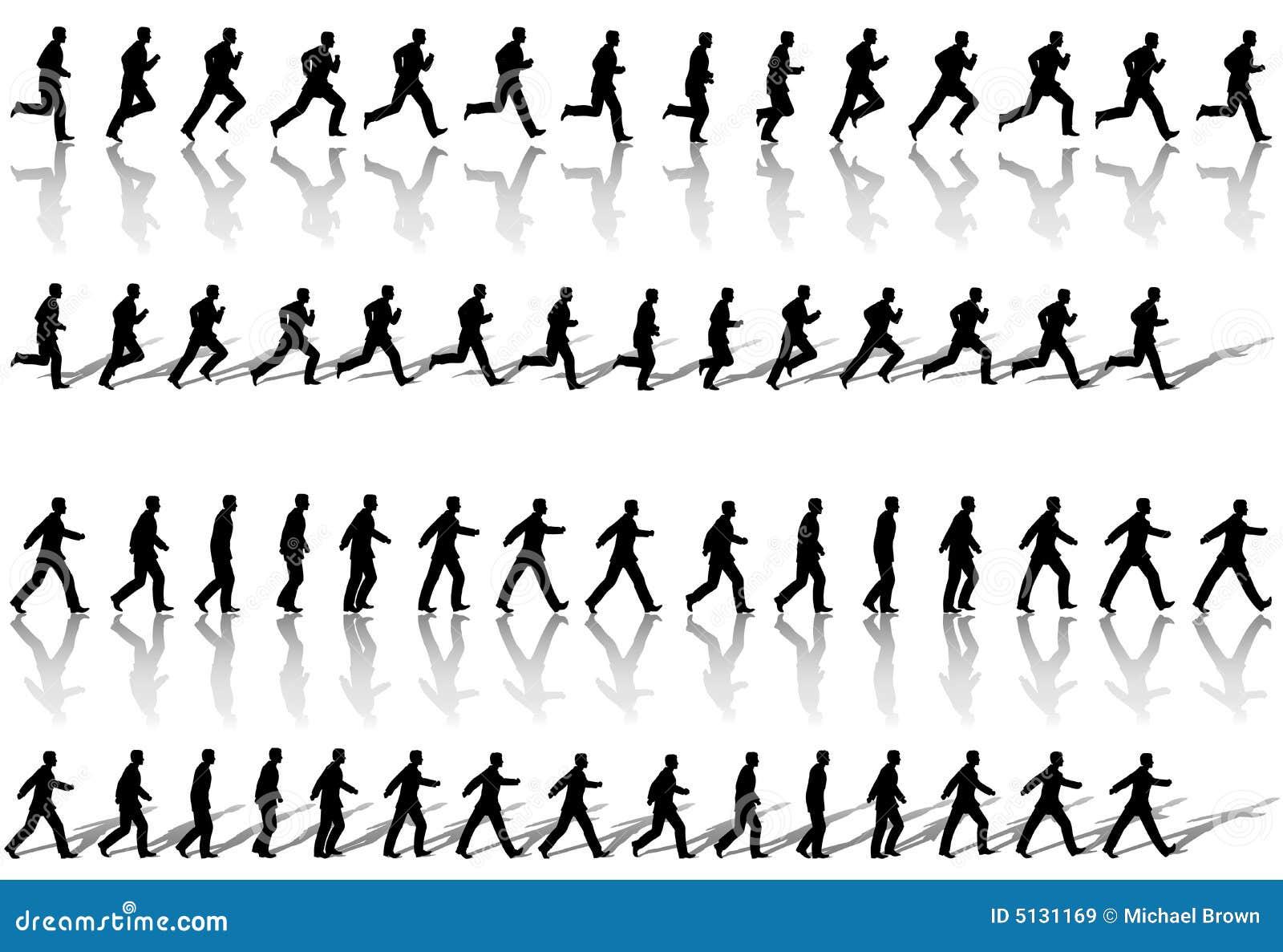 Rama biznesowe biegł sekwencji spacer
