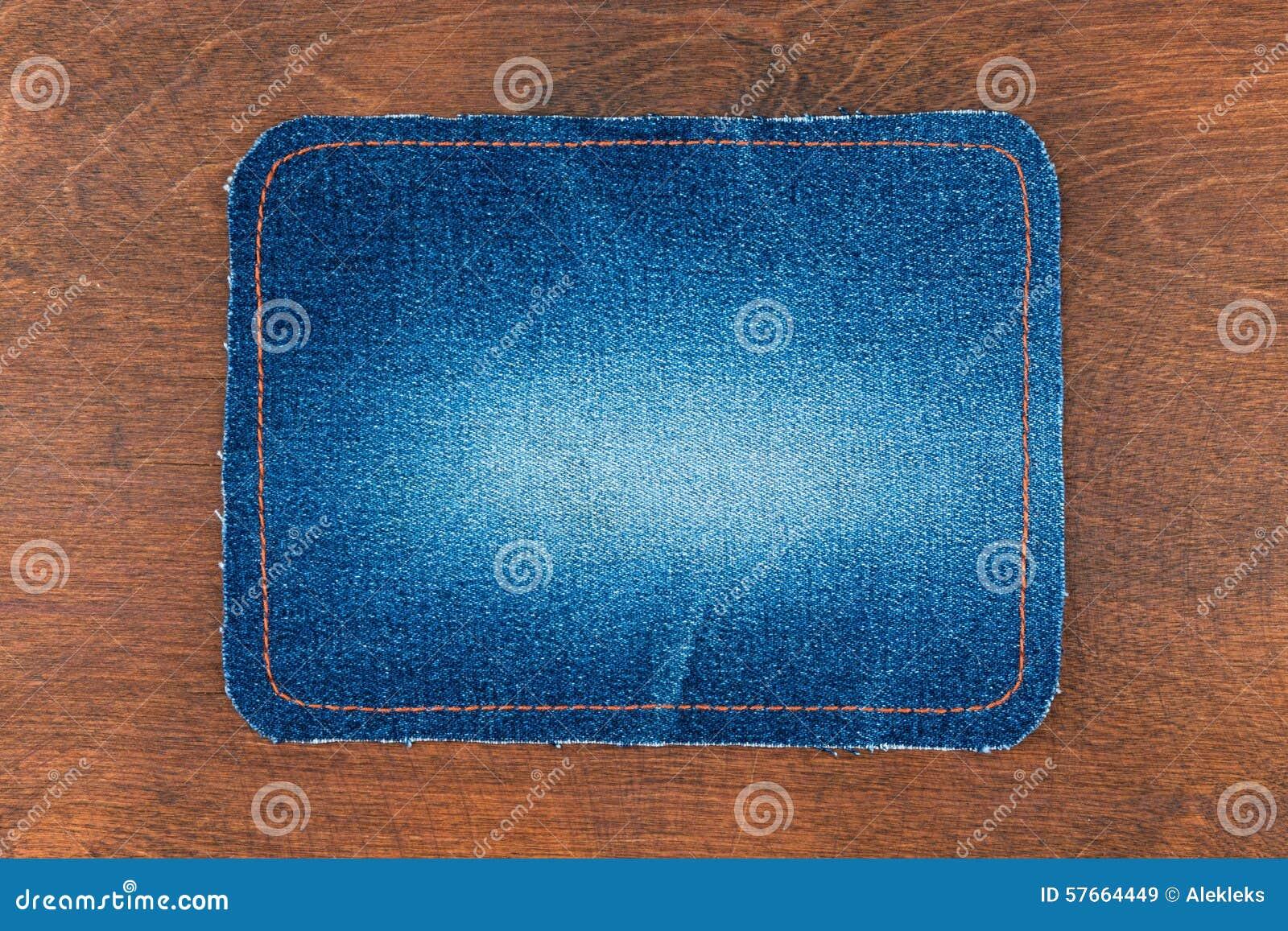Rama dla teksta od niebiescy dżinsy tkaniny z zaszytym li