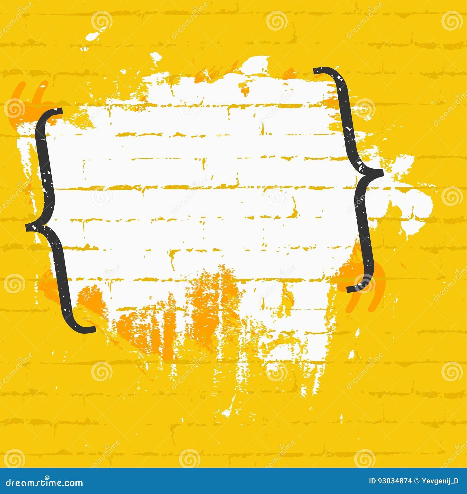Rama dla wycena z ceglaną teksturą na ścianie Sztandaru projekta pojęcie