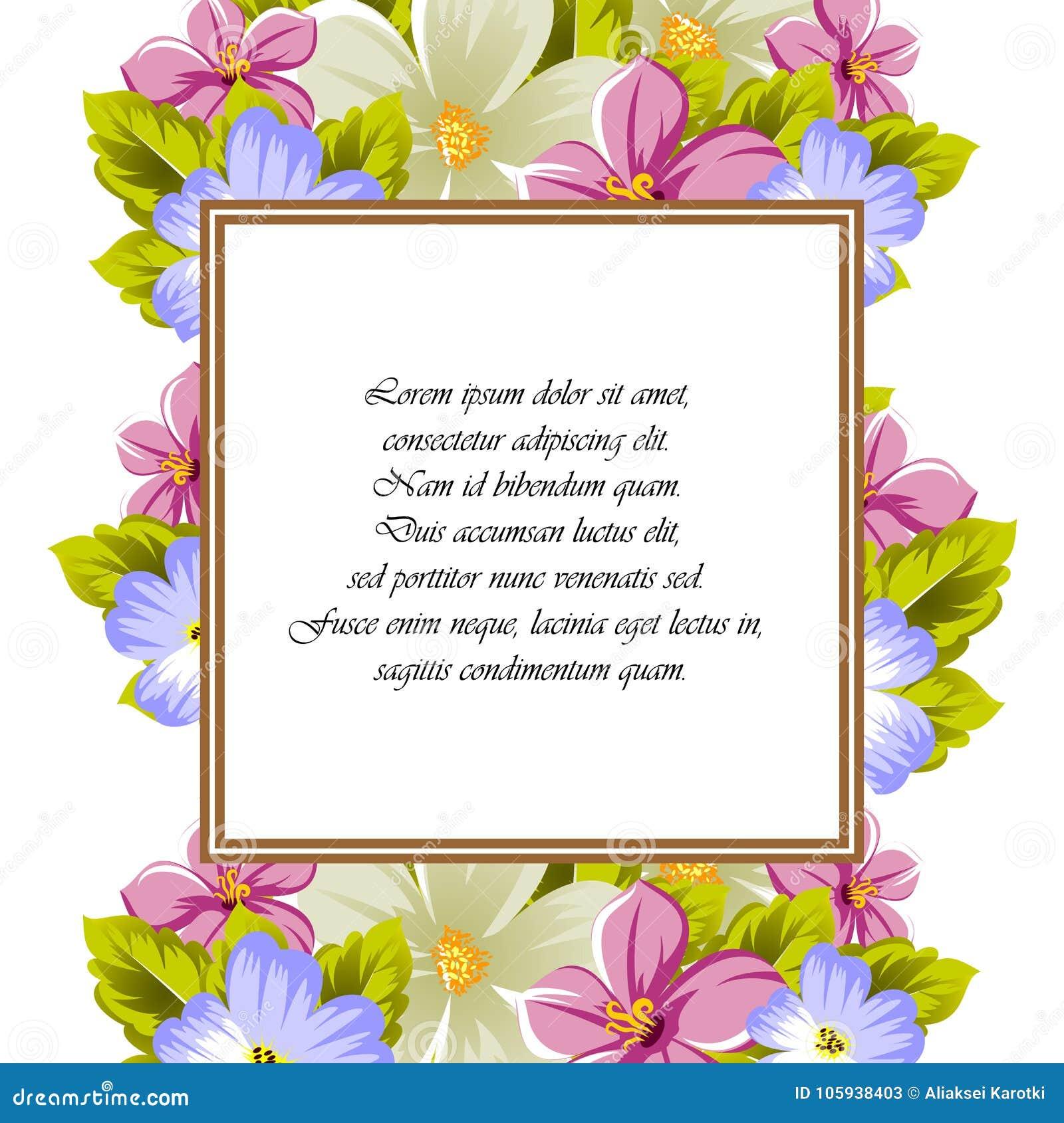 Rama Few Kwiaty Dla Projekta Karty Zaproszenia Powitanie