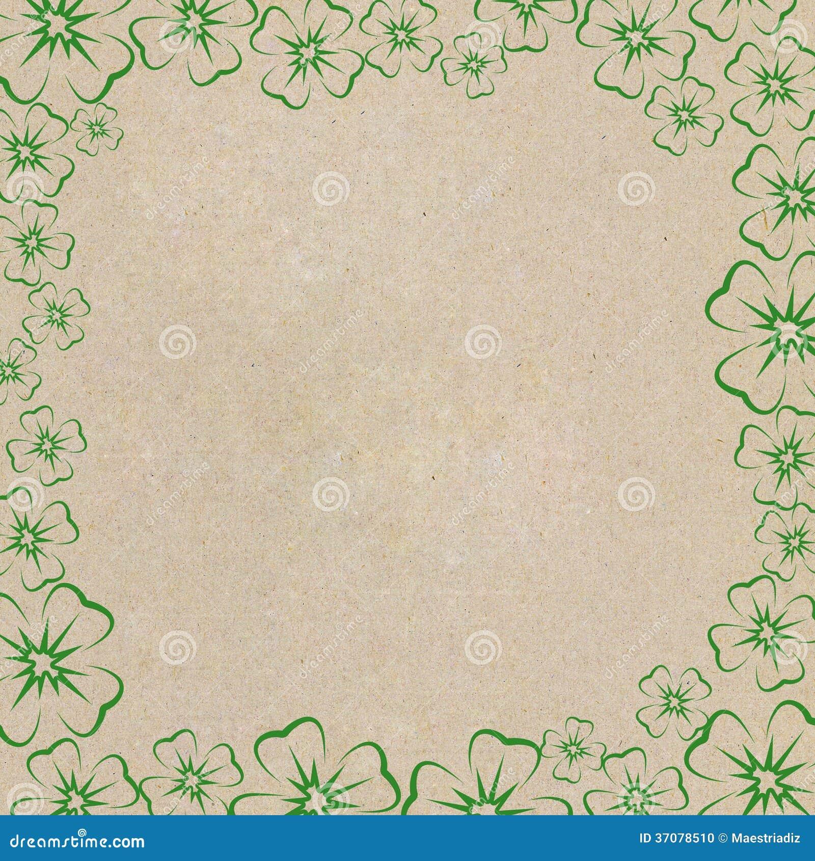 Download Rama koniczynowi liście zdjęcie stock. Obraz złożonej z dekoracje - 37078510