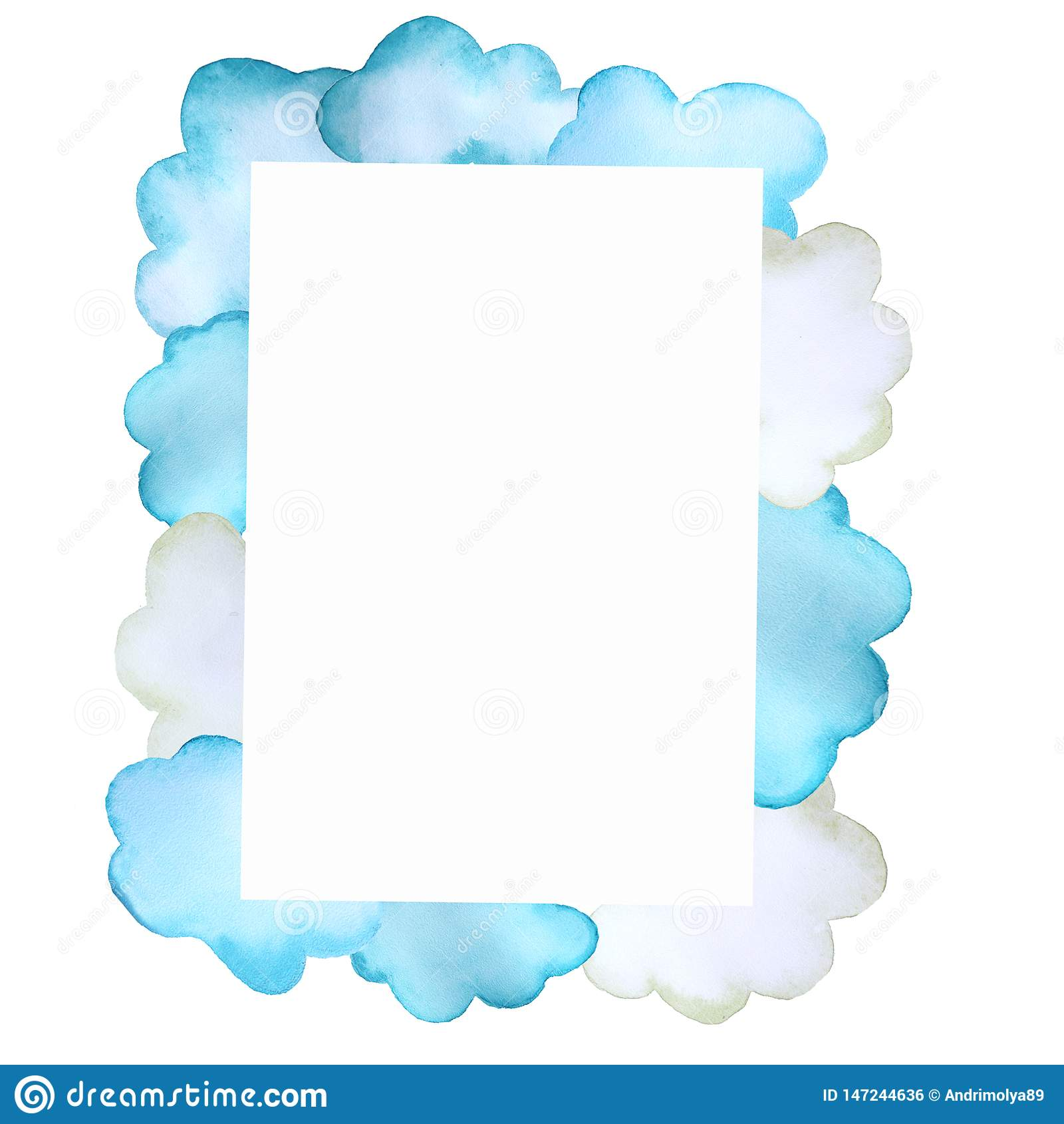 Rama z chmurami