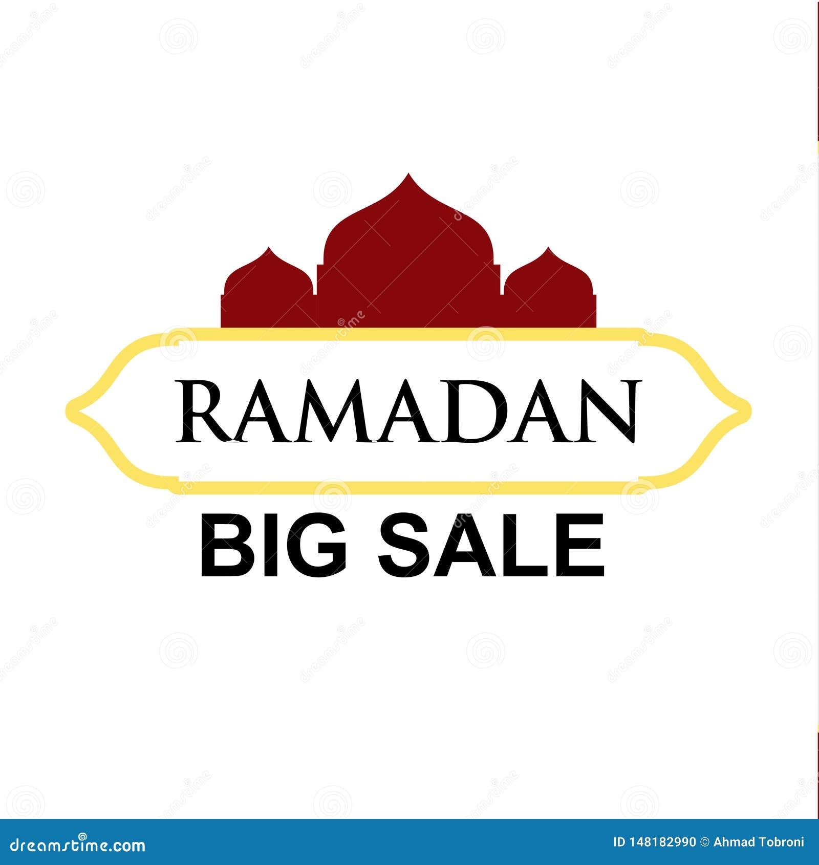 Ramadan Big Sale Vector Template-Entwurfs-Illustration