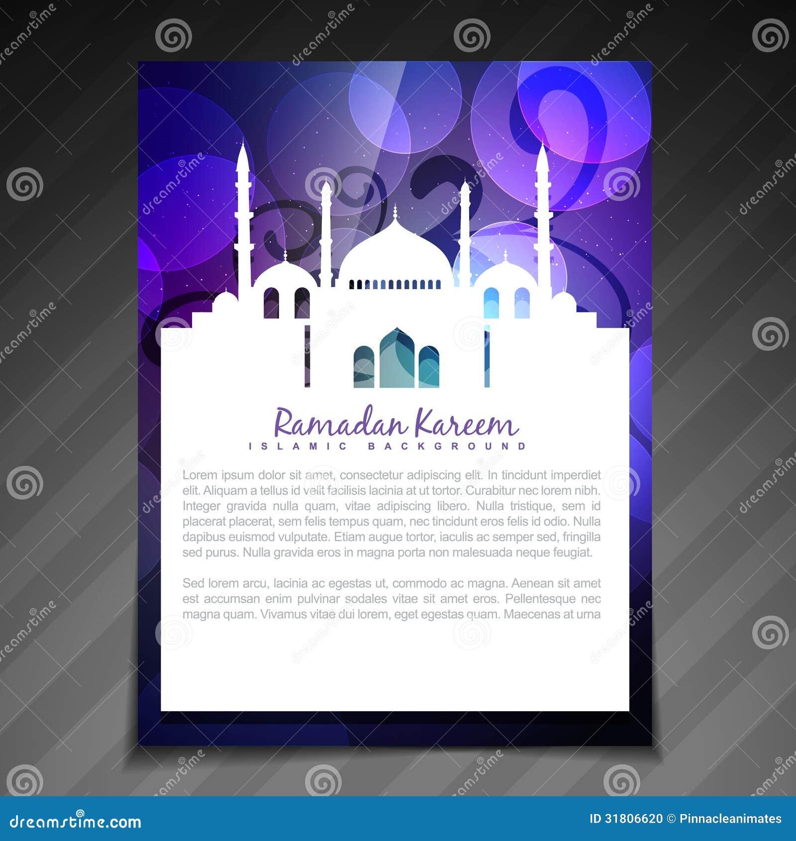 Ramadan brochure background stock vector image 31806620 for Islamic brochure design