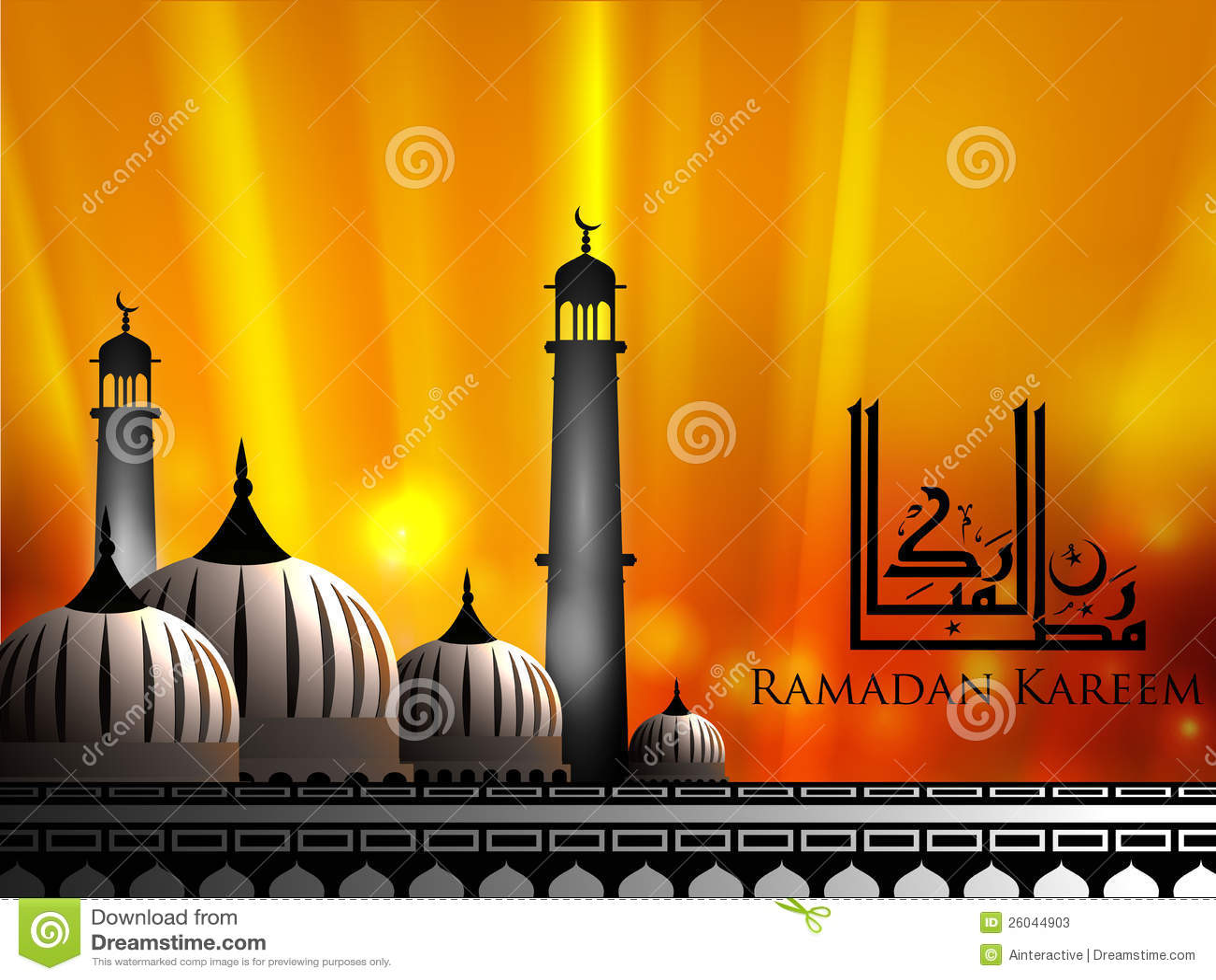 Ramadan Kareem阿拉伯伊斯兰文本