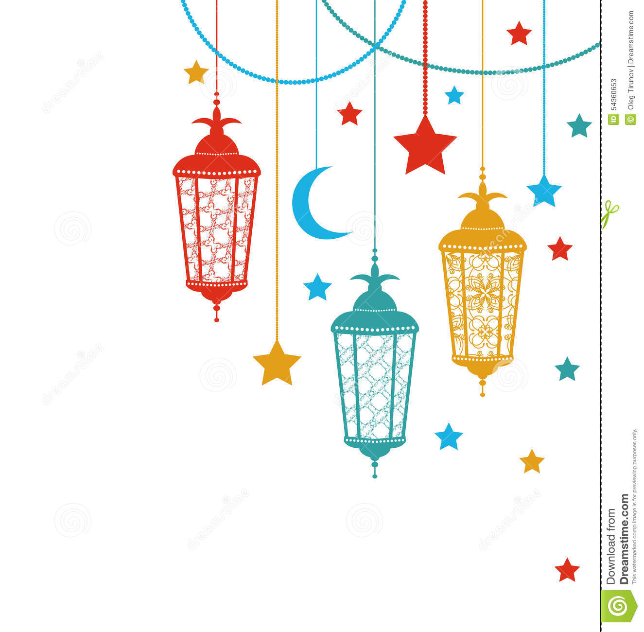Ramadan Kareem Background Stock Vector - Image: 54360653