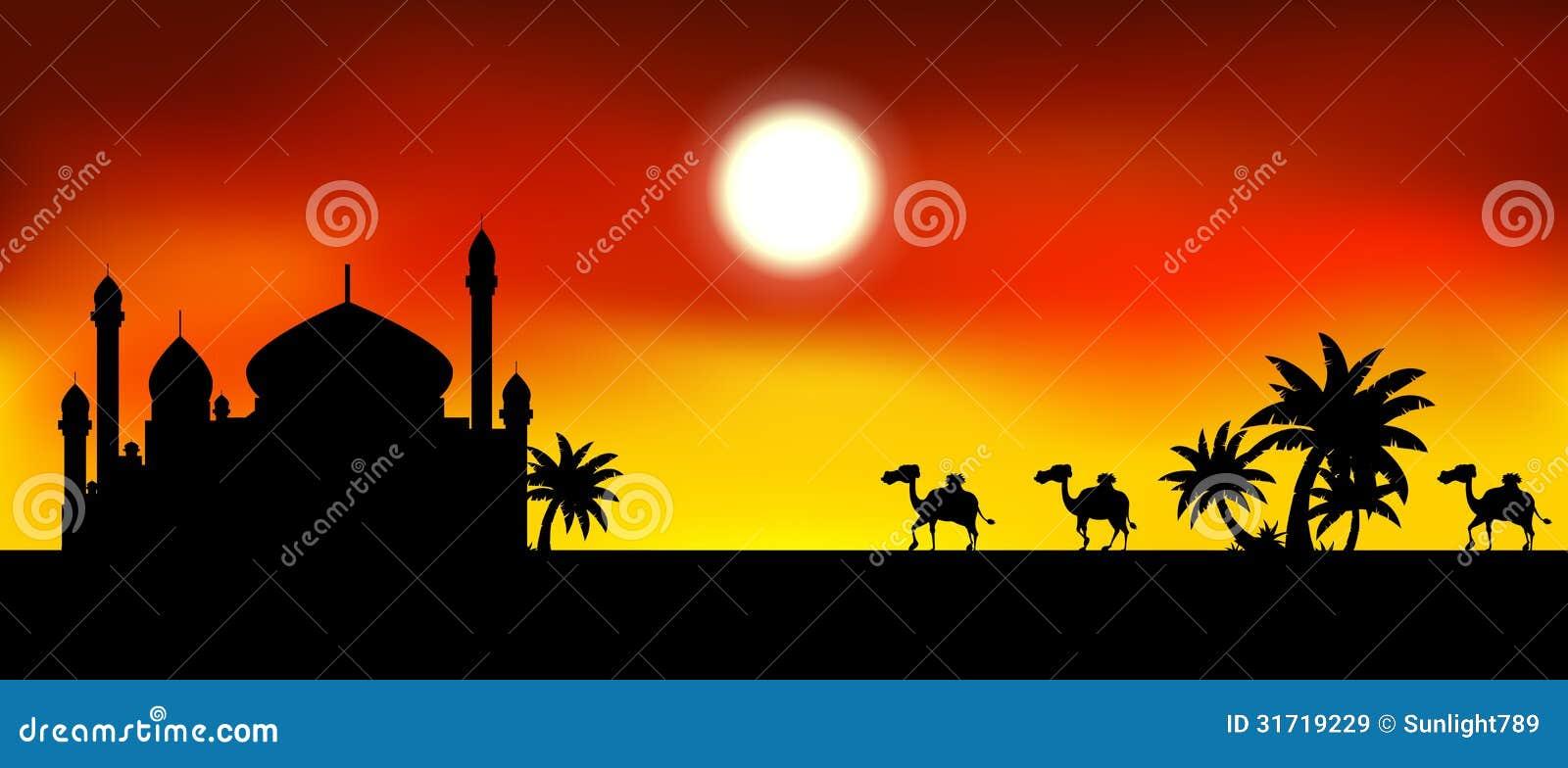 Mosque background for ramadan kareem stock photography image - Royalty Free Stock Photo Camel Illustration Kareem Mosque Ramadan