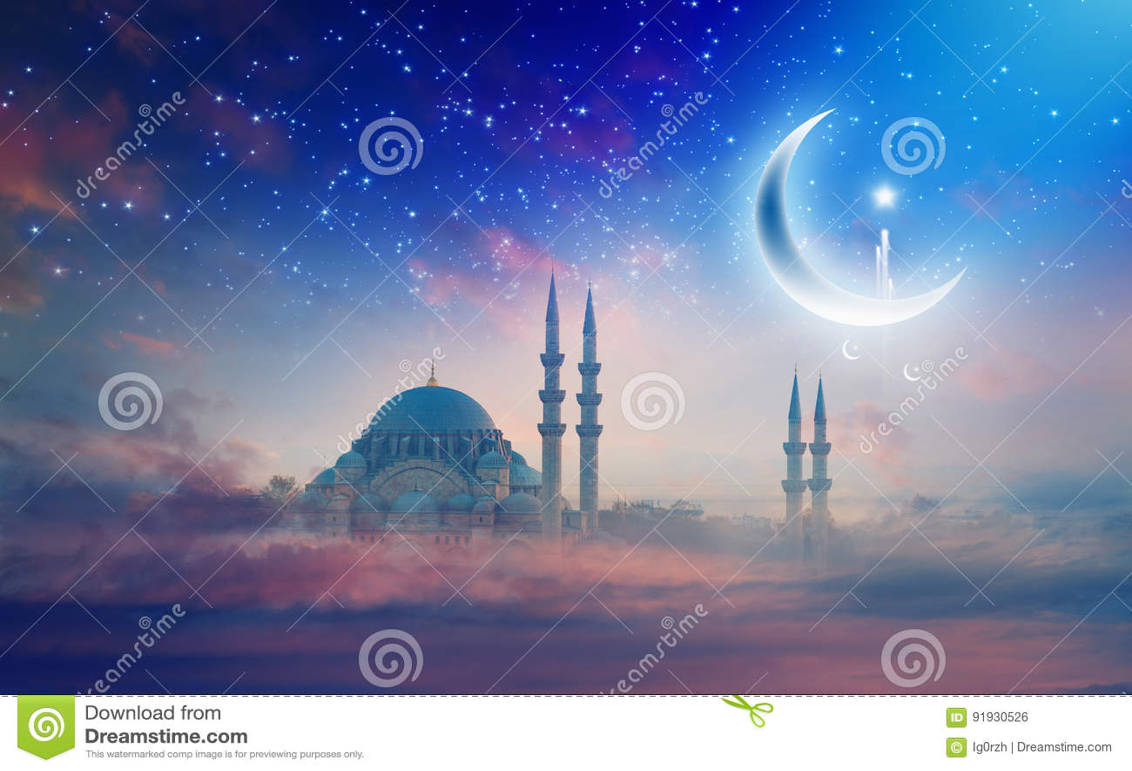 Ramadan Kareem background, Suleymaniye mosque in Istanbul