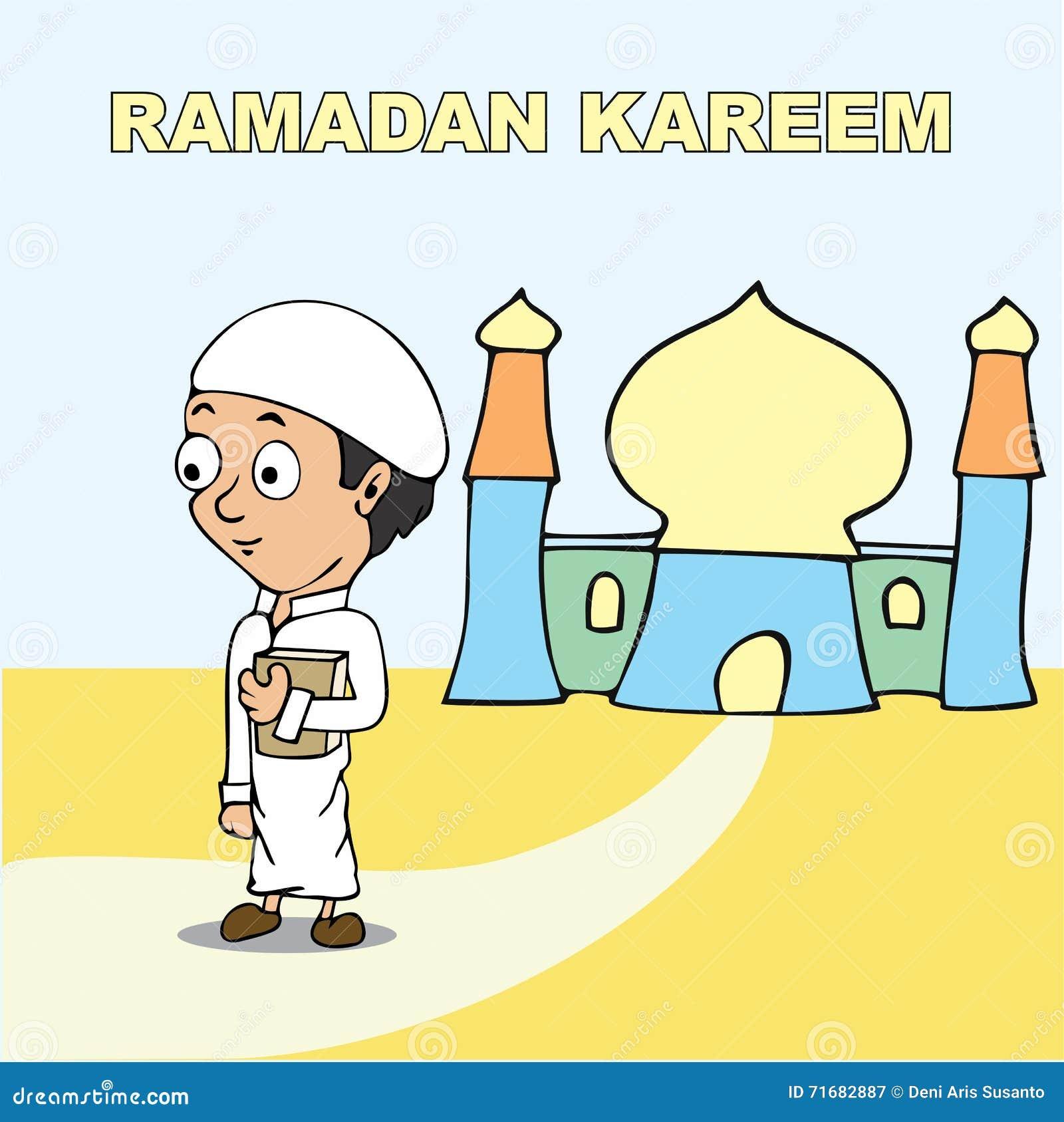 Ramadan kareem cartoon stock illustration. Illustration of ...