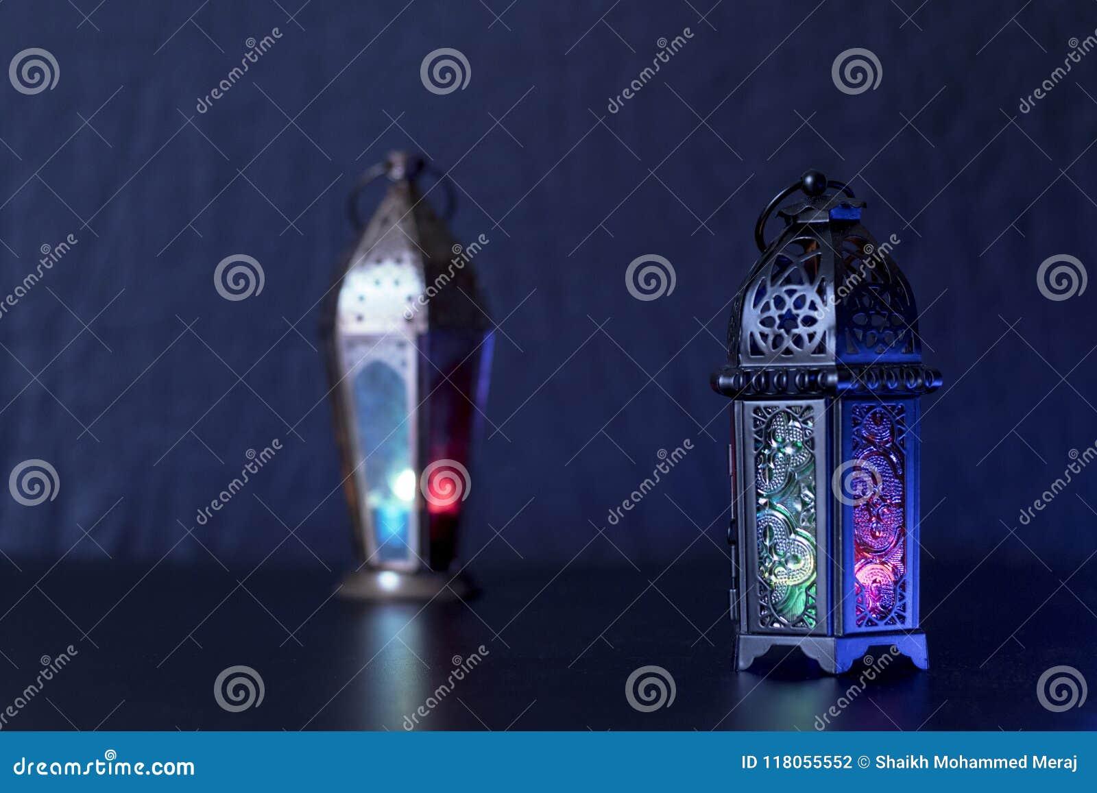 Ramadan Kareem and eid al fitr Lanterns Egyptian Fanoos